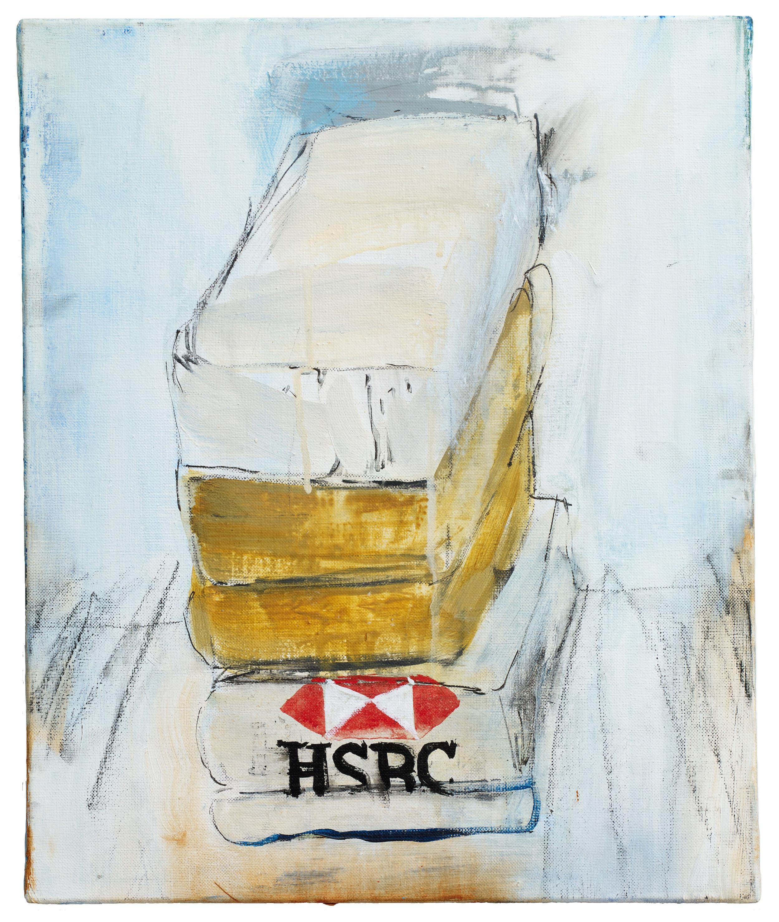 Brian Maguire  Cocaine Laundry Series, HSBC , 2015 Acrylic on canvas 46 x 38 cm
