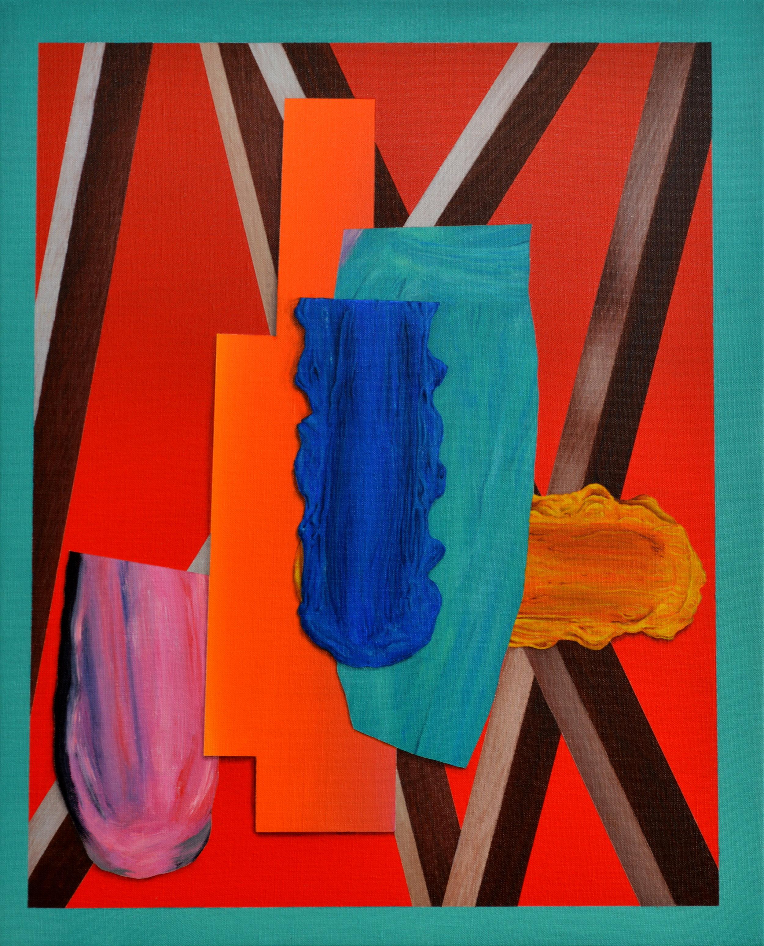 Lee Marshall   Curio , 2014  Acrylic on linen  42cm x 52cm
