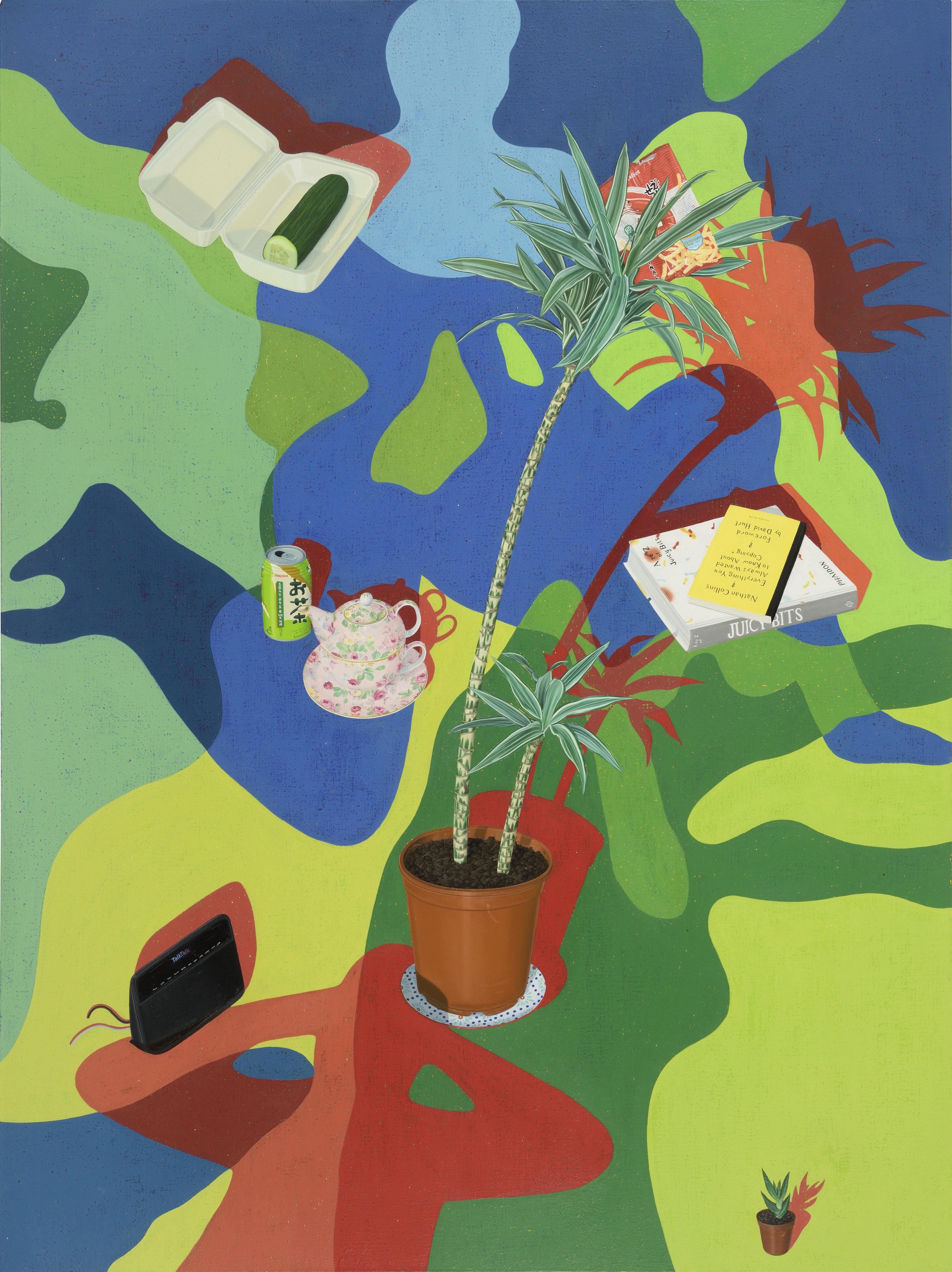 Tristan Pigott  Juicy Bits , 2017 Oil on linen 160 x 120 cm