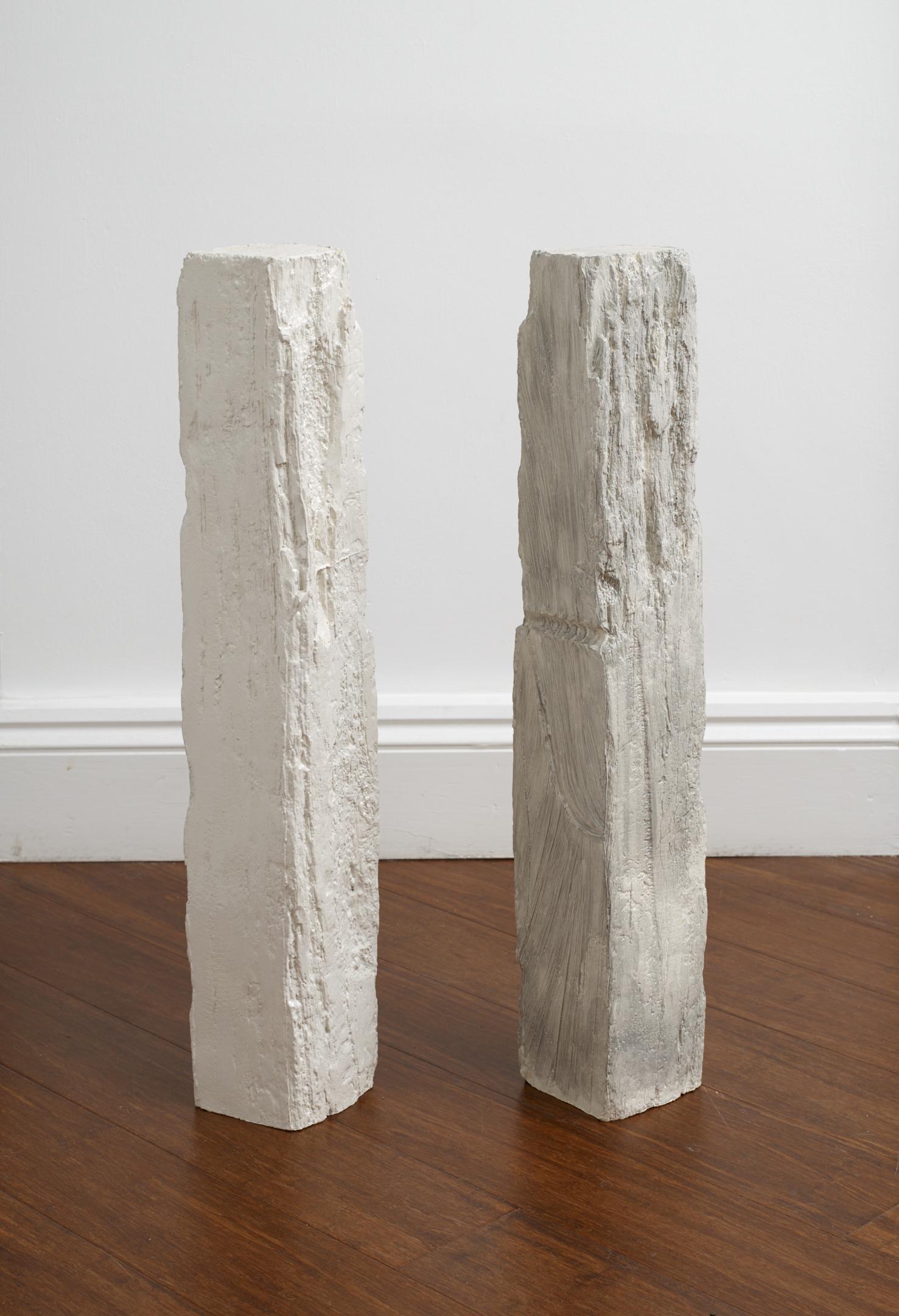 Jodie Carey  Untitled,  2019 Glazed ceramic 11 x 12 x 74 cm (each)