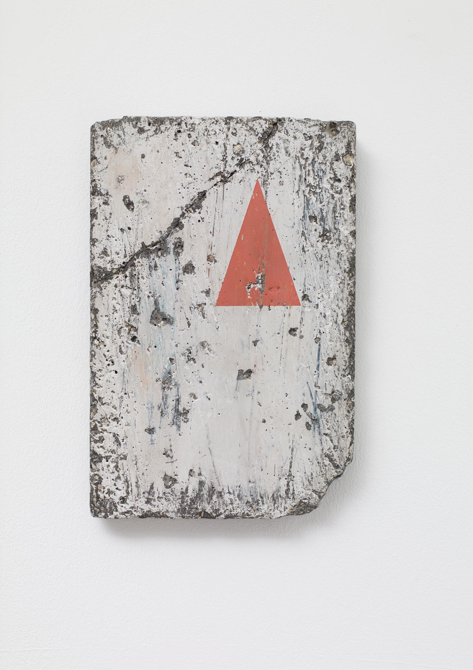 Victor Seaward  Ruin , 2017 Emulsion on cast concrete panel 23.5 x 16 cm