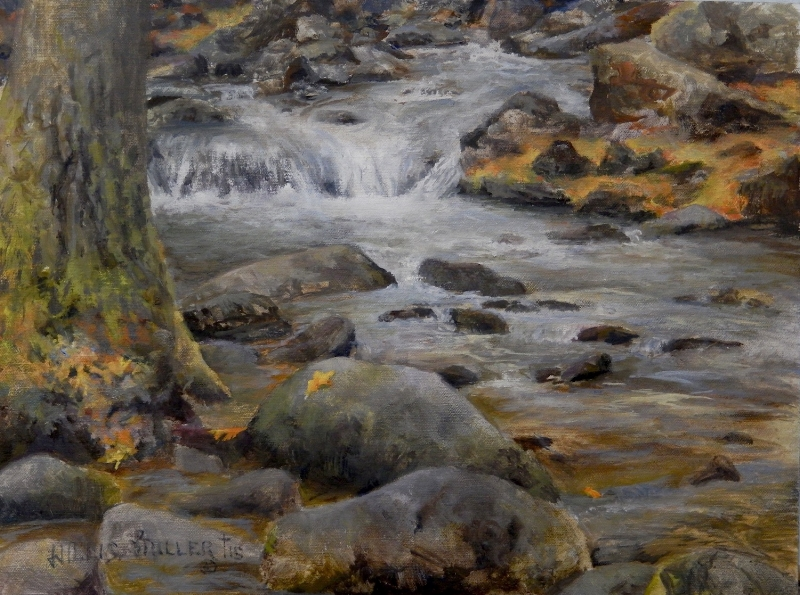 "Water Of Life, 12"" x 16"", oil.  This image was seen in Pigeon Forge, TN."
