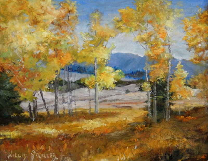 "Joy of It, 9"" x 12"", oil.  This image was seen in Mueller Park, Colorado.  I wanted to stay there and paint."