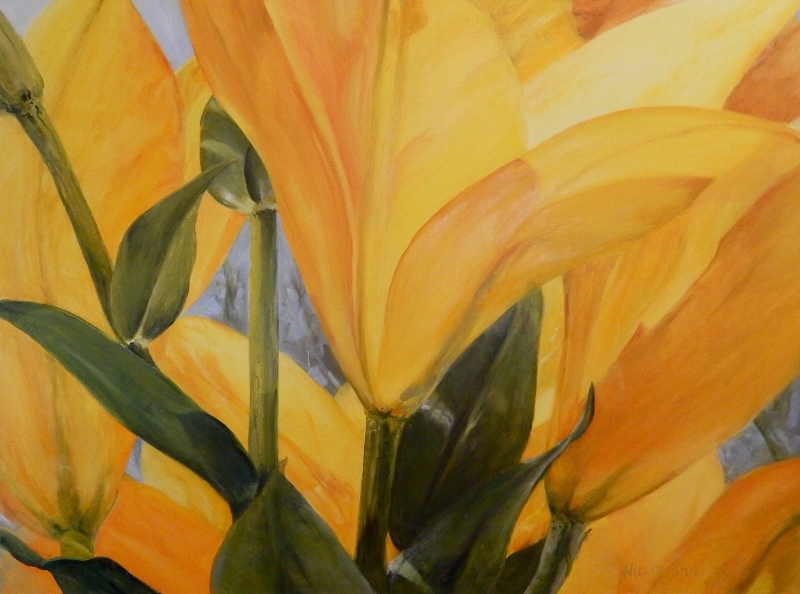 """No Big and Small, 30"""" x 40"""", oil. Looking at creation close up gives another appreciation."""