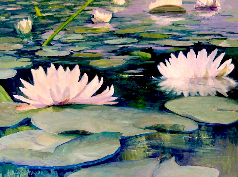 """Declaring His Handiwork, 18"""" x 24"""", oil. This image was seen at the Botanical Garden of the Ozarks."""