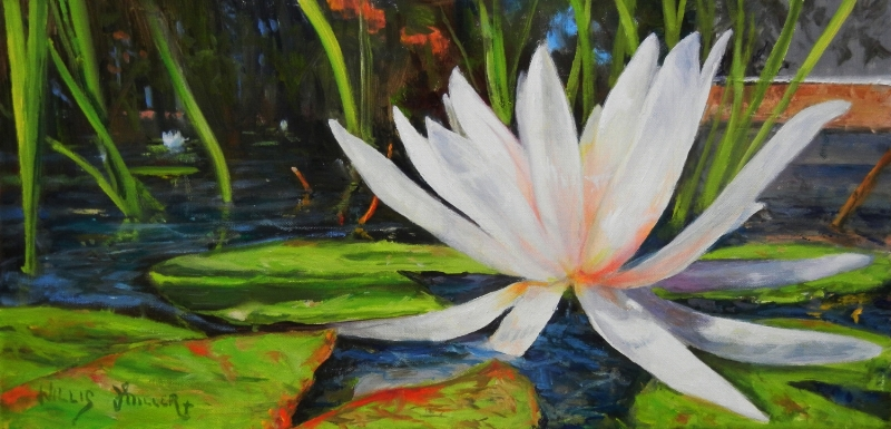 """Close Up Creation, 10"""" x 20"""", oil.It is amazing how creation is beautiful from different angles."""