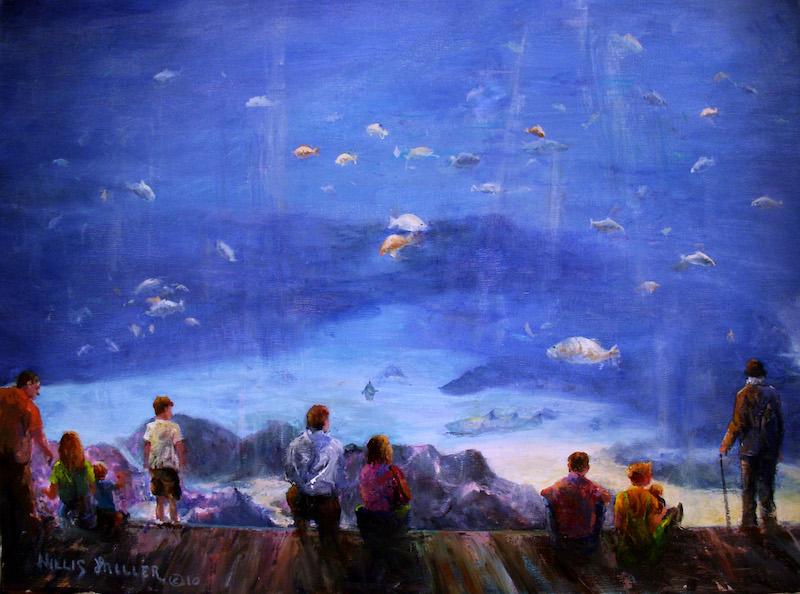"Fish Of The Sea, 18"" x 24"", oil. This image was seen at an aquarium in Atlanta, GA."