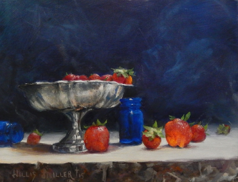 """First Fruits, 11"""" x 14"""", oil"""