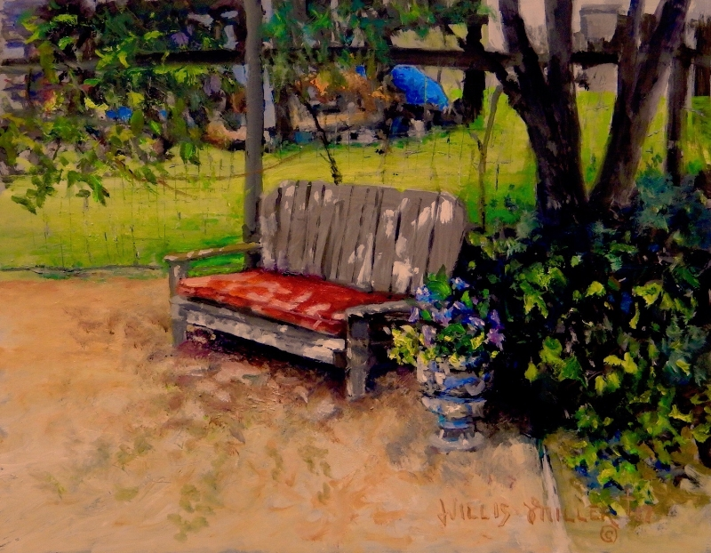 """A Refreshing Place, 11"""" x 14"""", oil."""