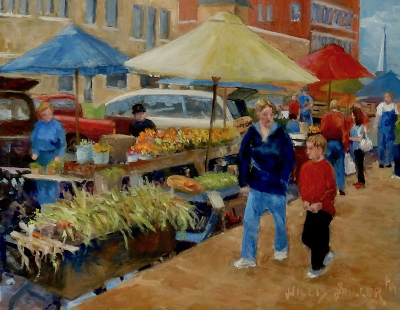 "Title: In All Things, 11"" x 14"", oil.  Created from an image scene at Farmers Market in Fayetteville, AR."