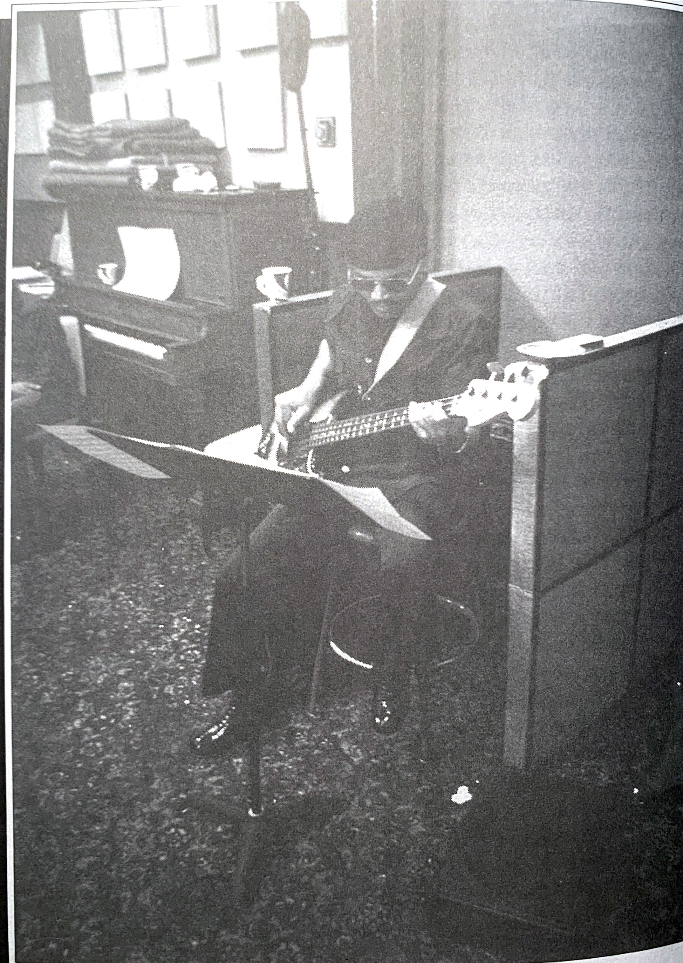 James in a mid-1970's recording session out West.