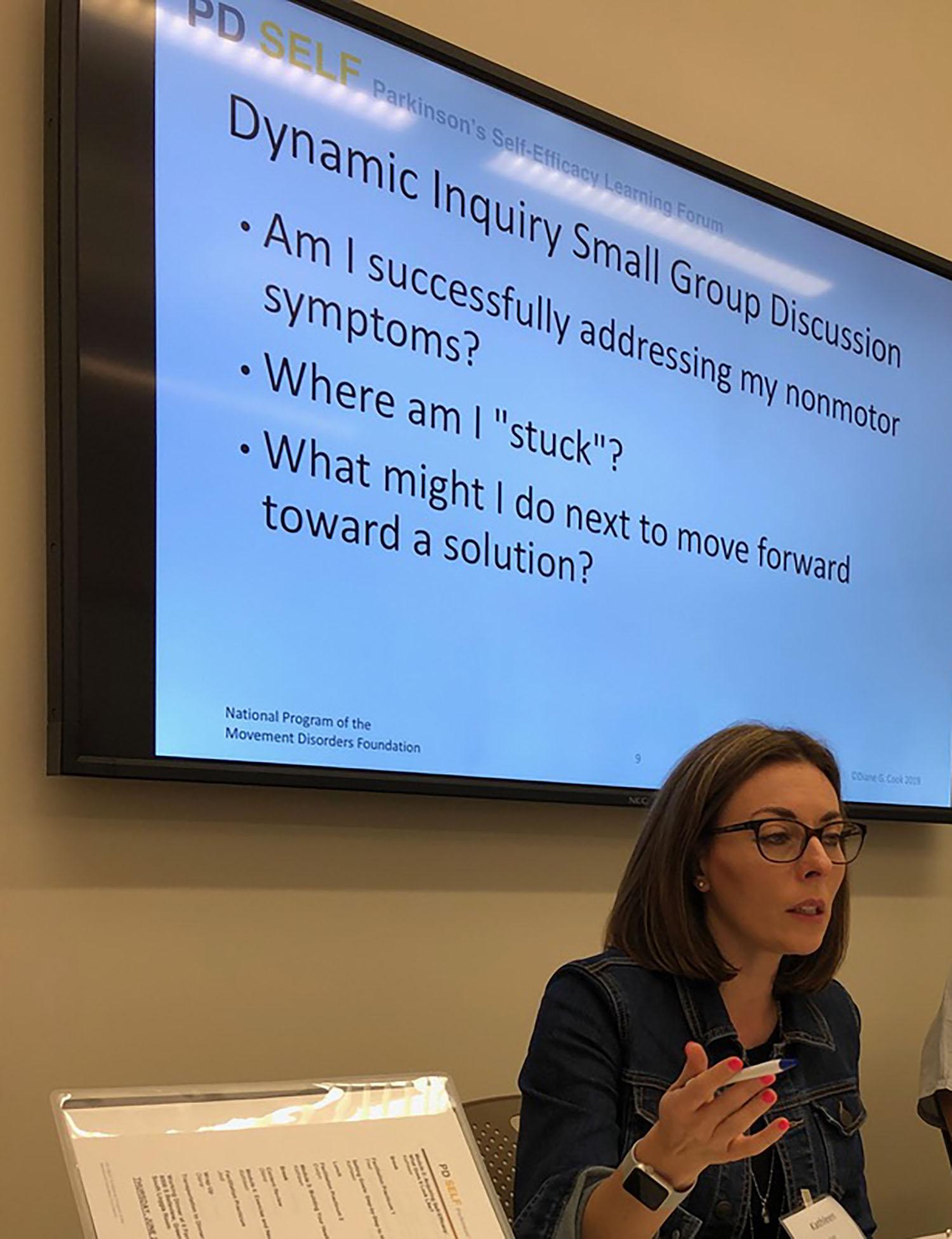 Training 2019-2020 Kathleen explaining Dynamic Inquiry
