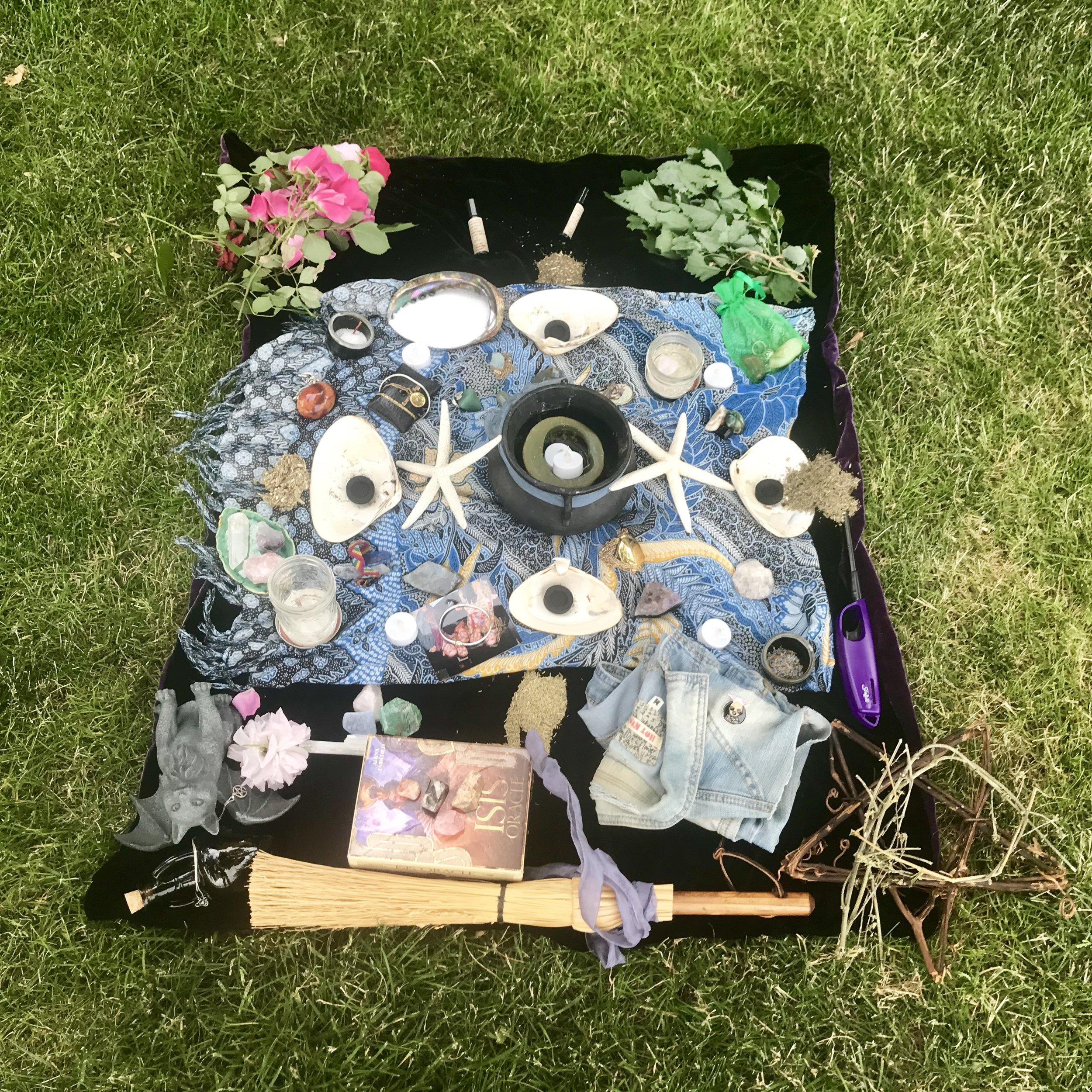 The summer solstice altar.
