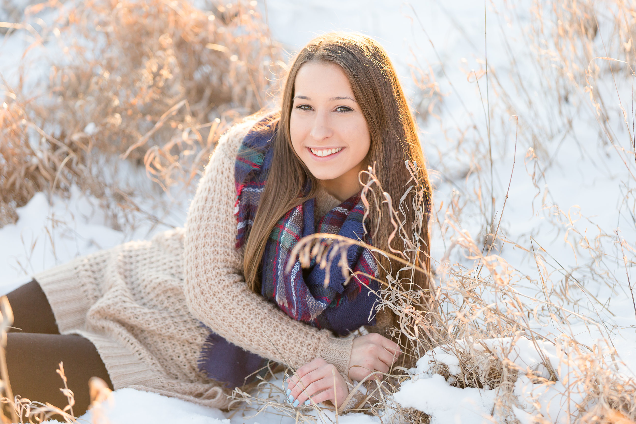 Winter Senior Photos Wisconsin