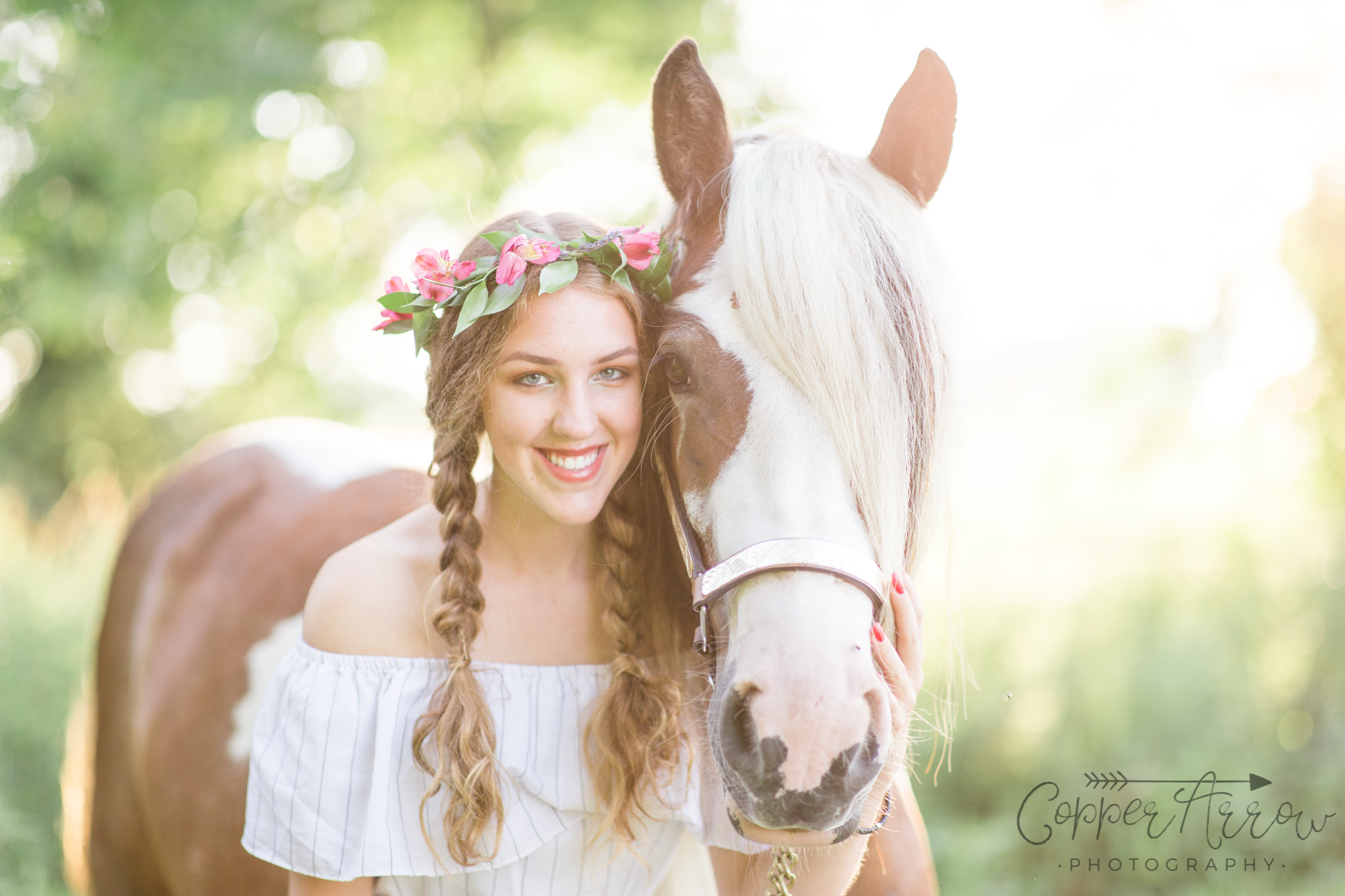 Senior Pictures with horses WI