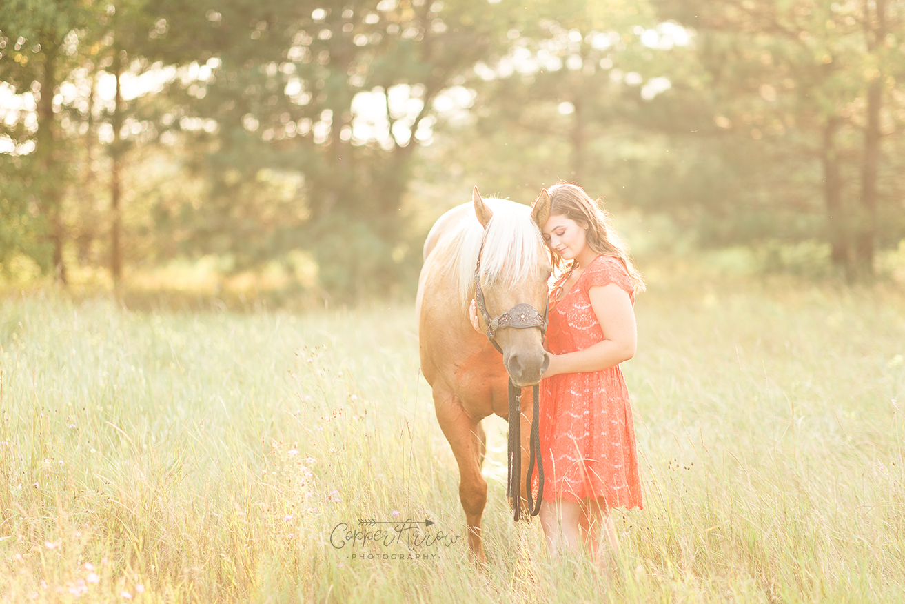 Senior Pictures with horse Wisconsin