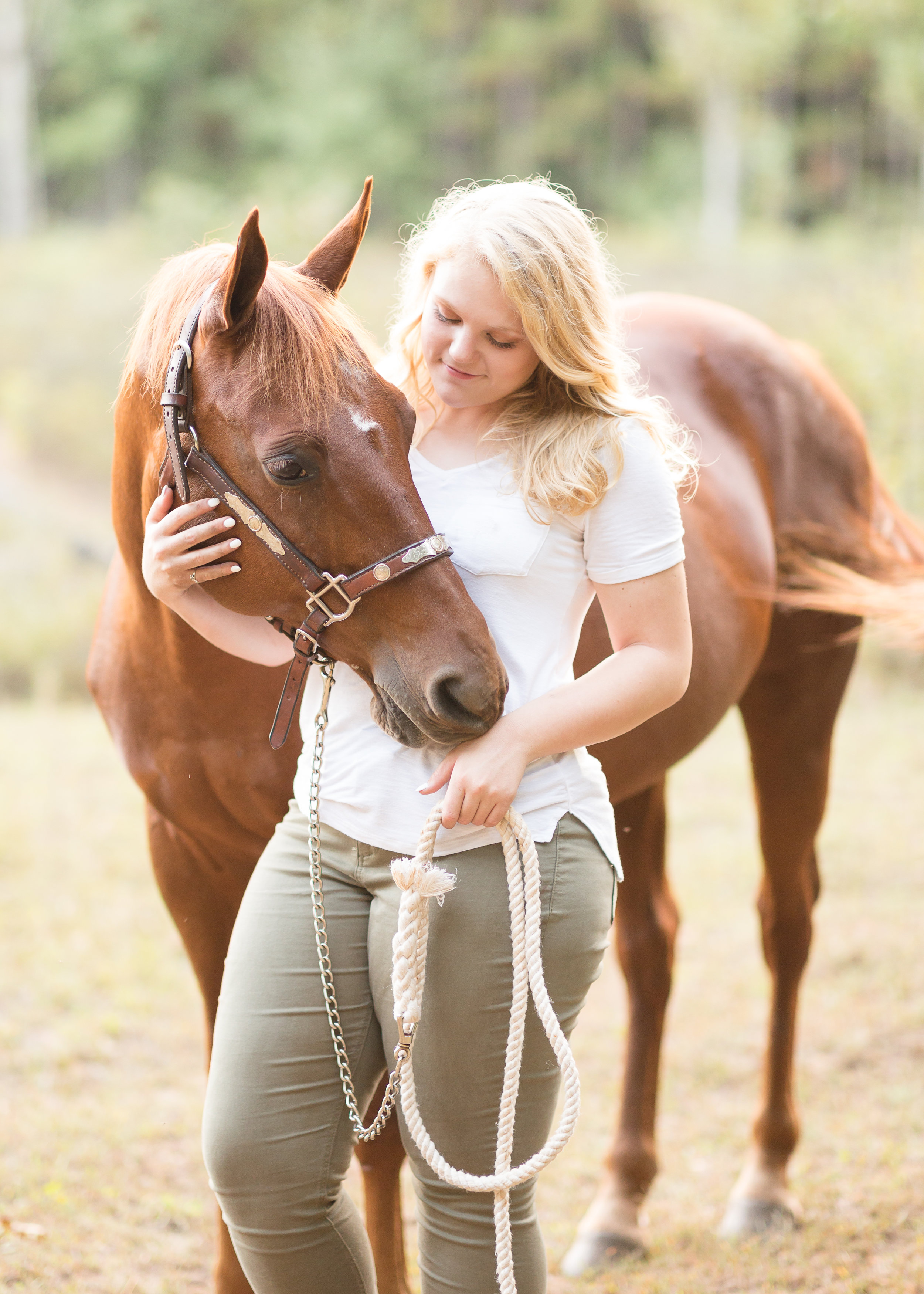 Senior Pictures with horse WI