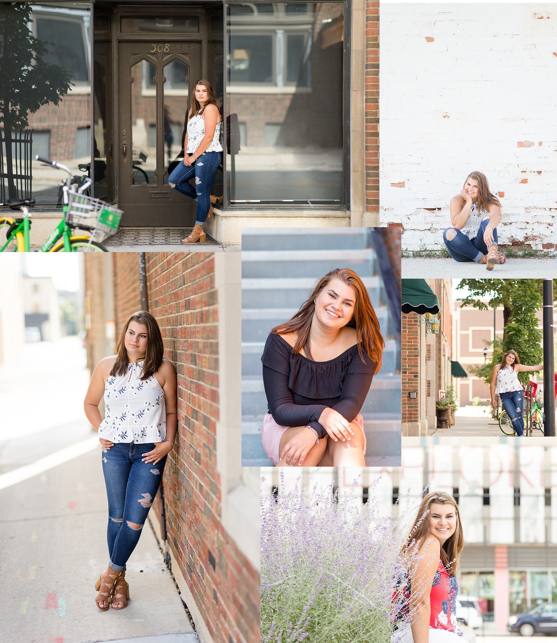Downtown Green Bay Senior Portraits