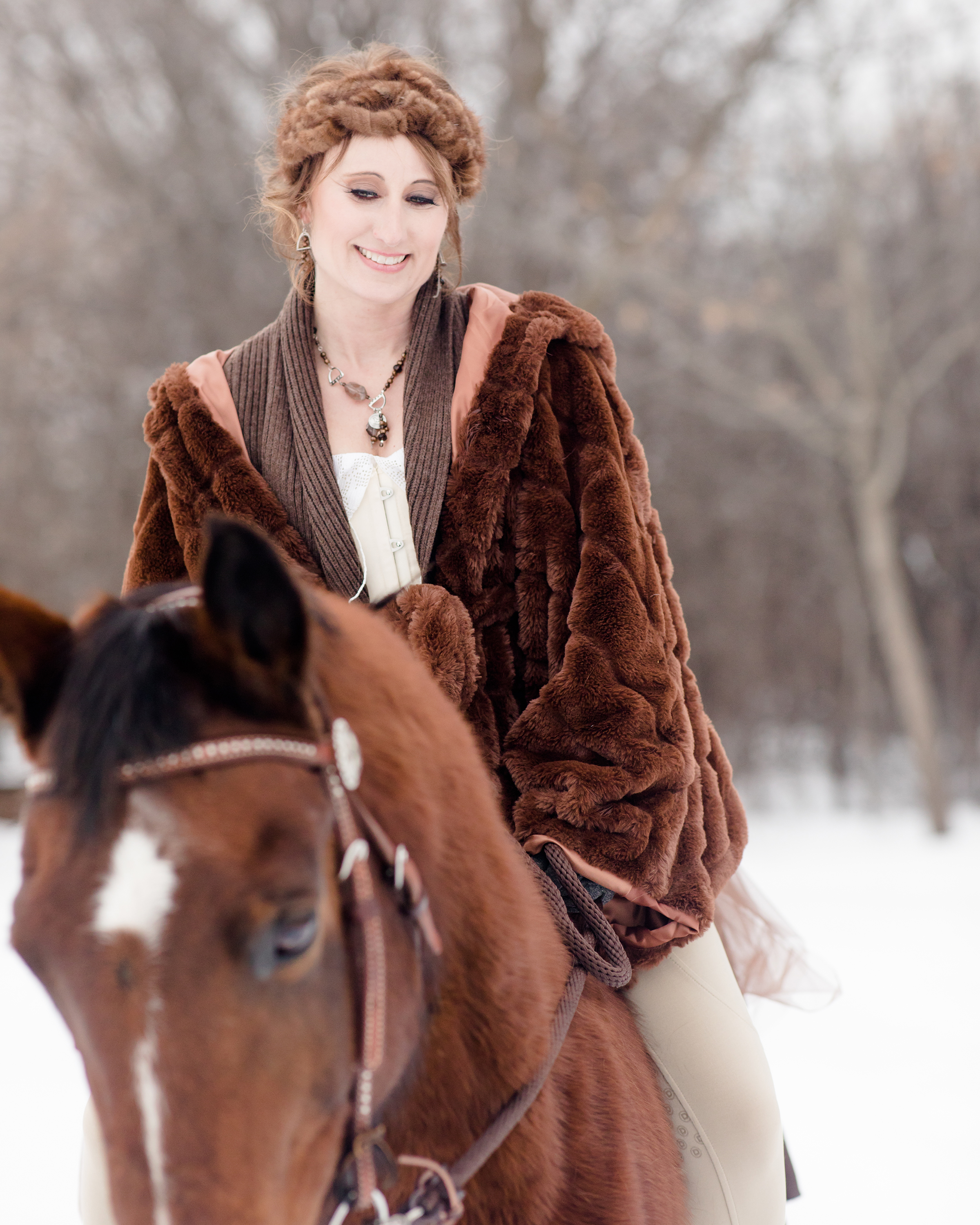 Wisconsin Winter Equestrian Photography