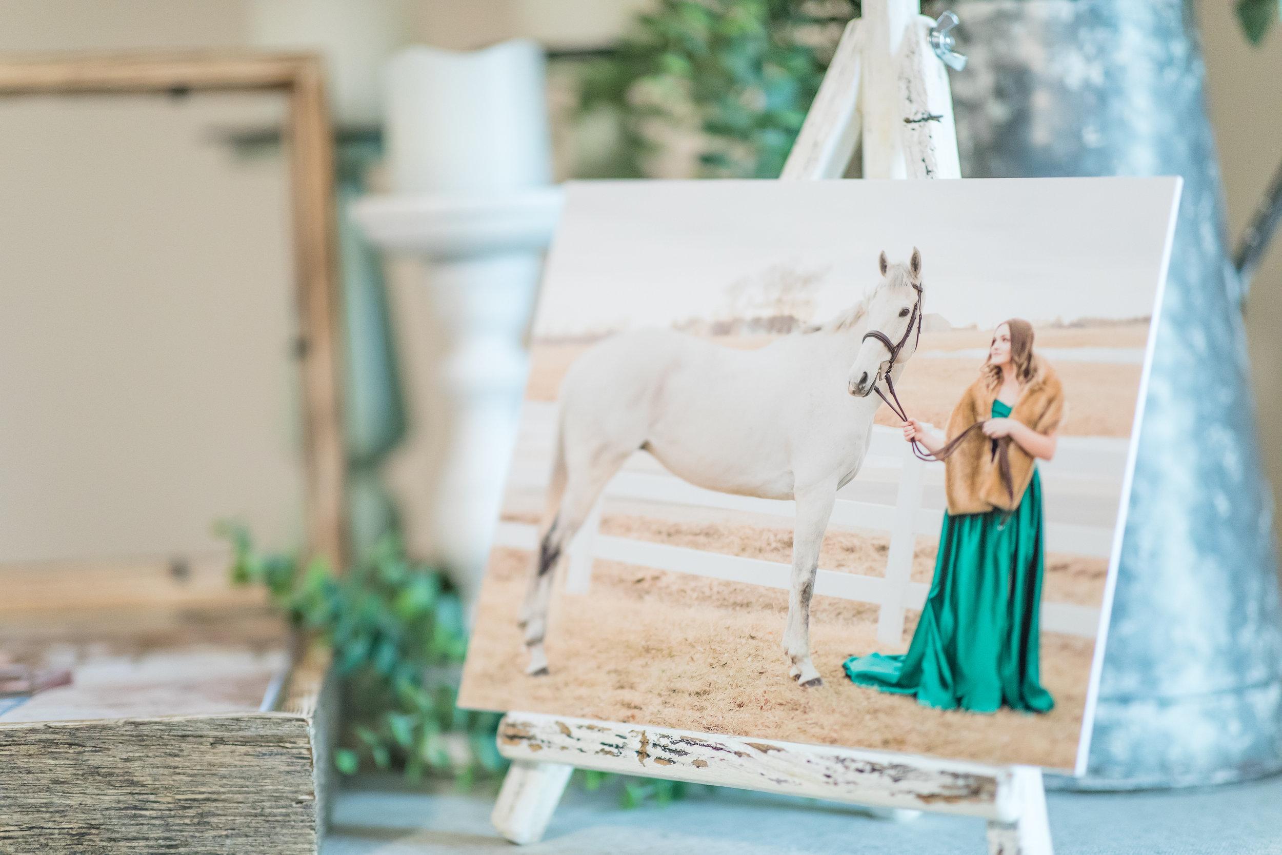 Stunning 8x10 gift print displayed on Barn Wood Easel