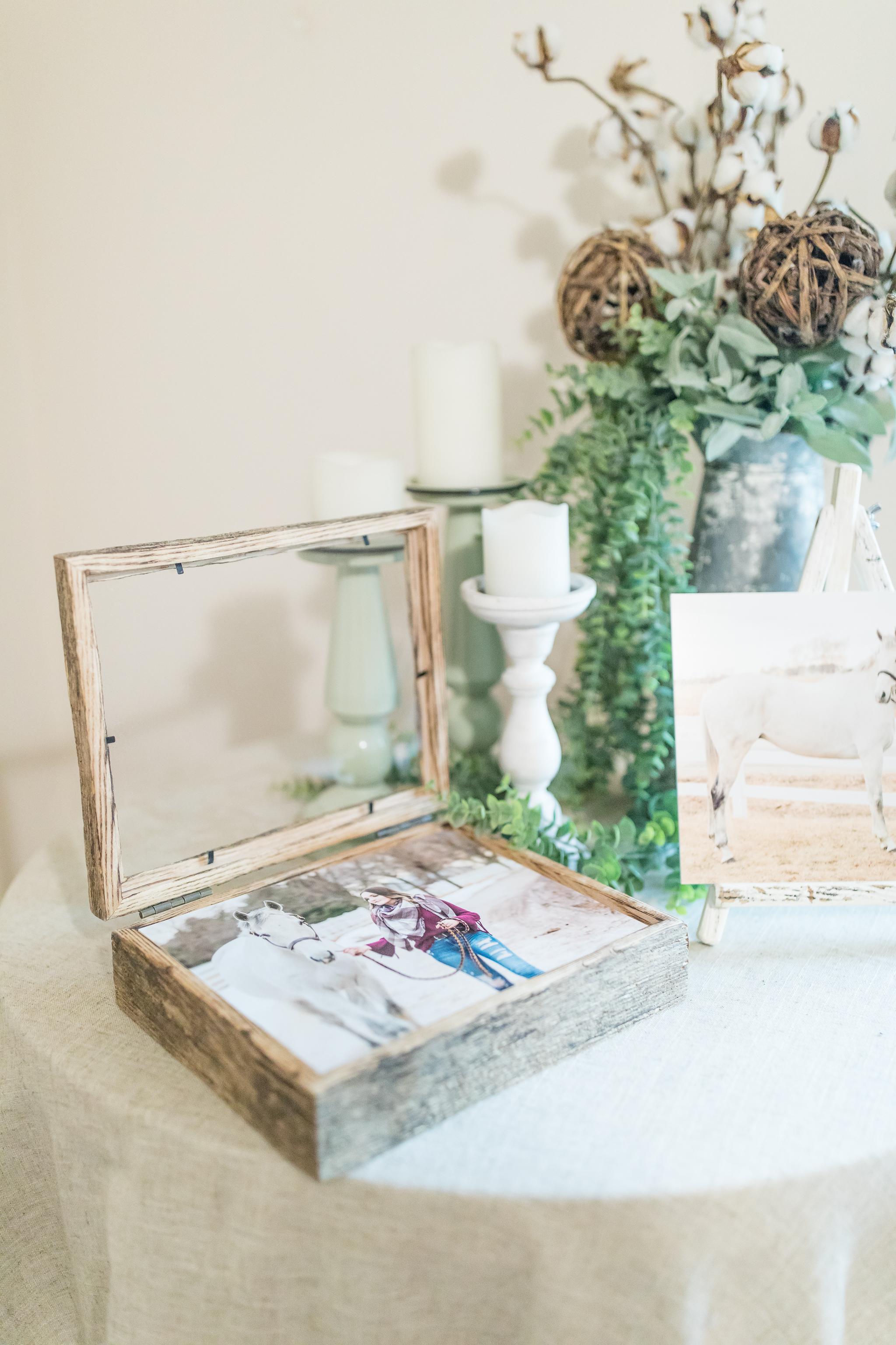 Beautiful Barn Wood box with 8x10 gift prints