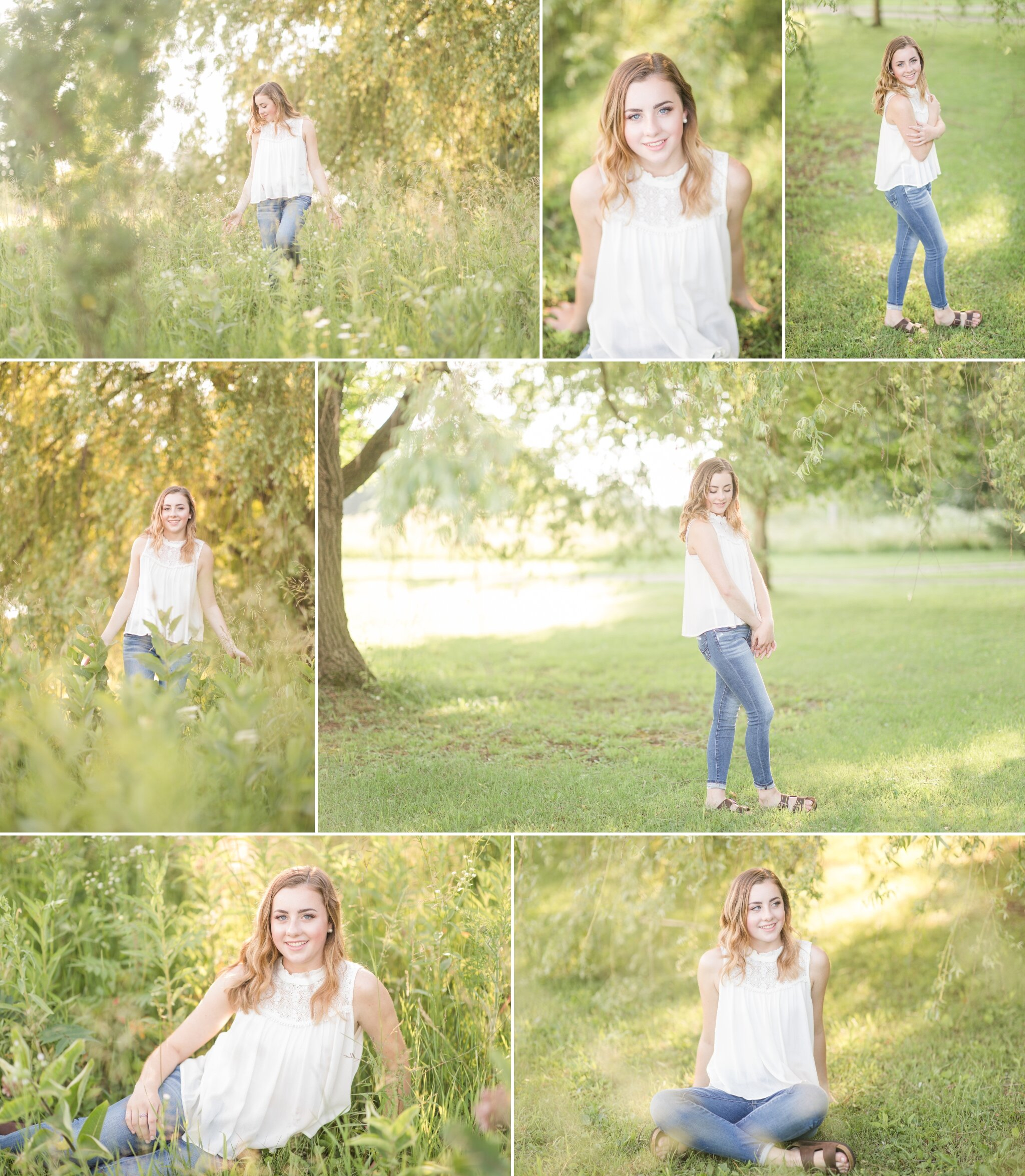 Senior Girl Portraits with Willow Tree Appleton, WI