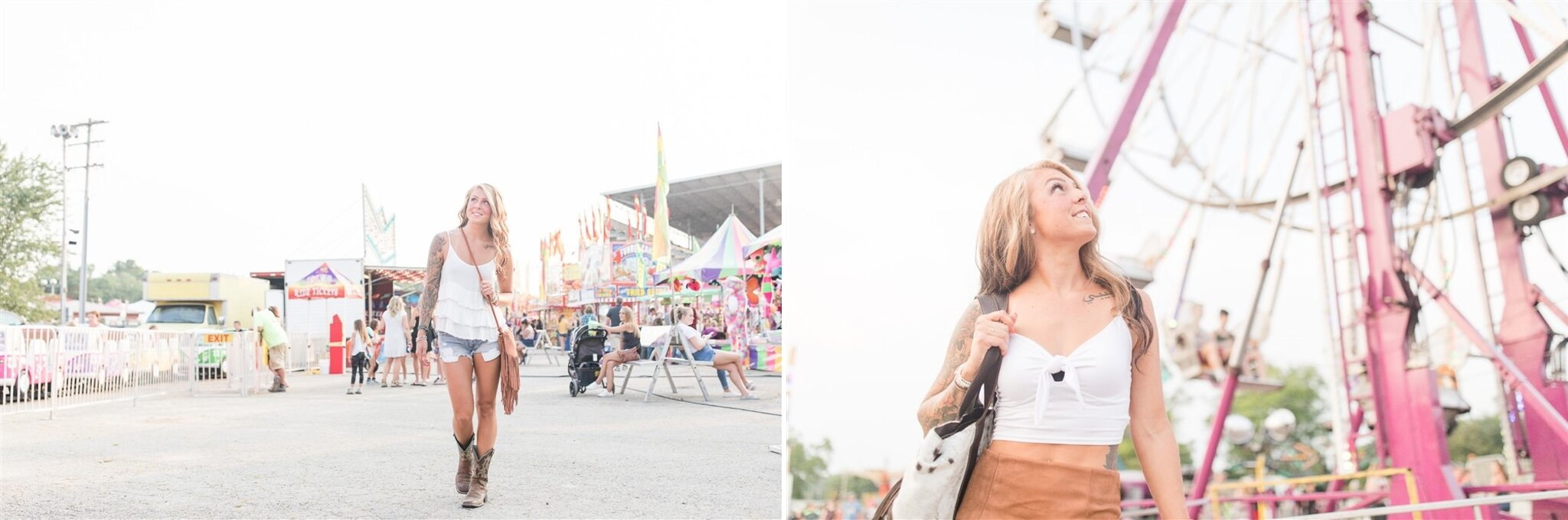 Fun photoshoot idea at the Outagamie County Fair in Seymour, WI. I love photos by the ferris wheel.