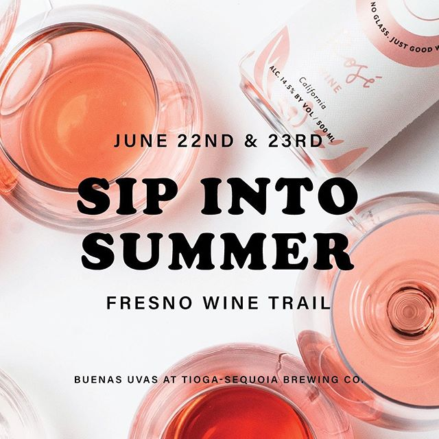 Sip sip sip into summer with us and @tiogasequoia 💦 Enjoy tastings of rosé & Tioga beers, plus get our one-time-only Brosé, a special beer & rosé blend.  Food trucks & tons of awesome local vendors will be there. And with your wine journey ticket, you can go to tastings at 13 different wineries over 2 days! Click the link in our bio to get your tix! $10 in advance online or $15 during the event at Tioga.