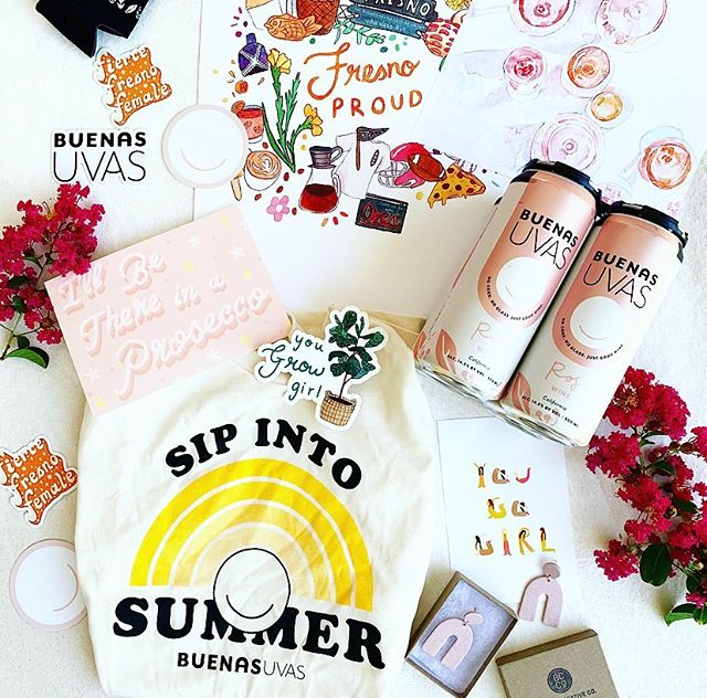 ✨ GIVEAWAY TIME ✨ We've partnered with @elowyn.makes.art and @brookecreativeco on a giveaway in celebration of Elowyn's 21st year around the sun #YESWAYROSÉ 👏🏼🥂🎉 We have merch, Brooke's rosé inspired earrings, and stickers/prints by @elowyn.makes.art 🥰  How to enter to win these goodies: 1. You have to be 21+ years old to enter 2. You have to be available to do a local pickup and have your ID on ya 3. Follow @buenasuvas, @brookecreativeco, and @elowyn.makes.art 🧡 4. Hop over to @elowyn.makes.art and tag a friend in the giveaway post comments to enter 🎉 5. EXTRA CREDIT: Sign up for @elowyn.makes.art newsletter (link in her bio) and dm her a screenshot to be entered 5 MORE TIMES ✨✨✨