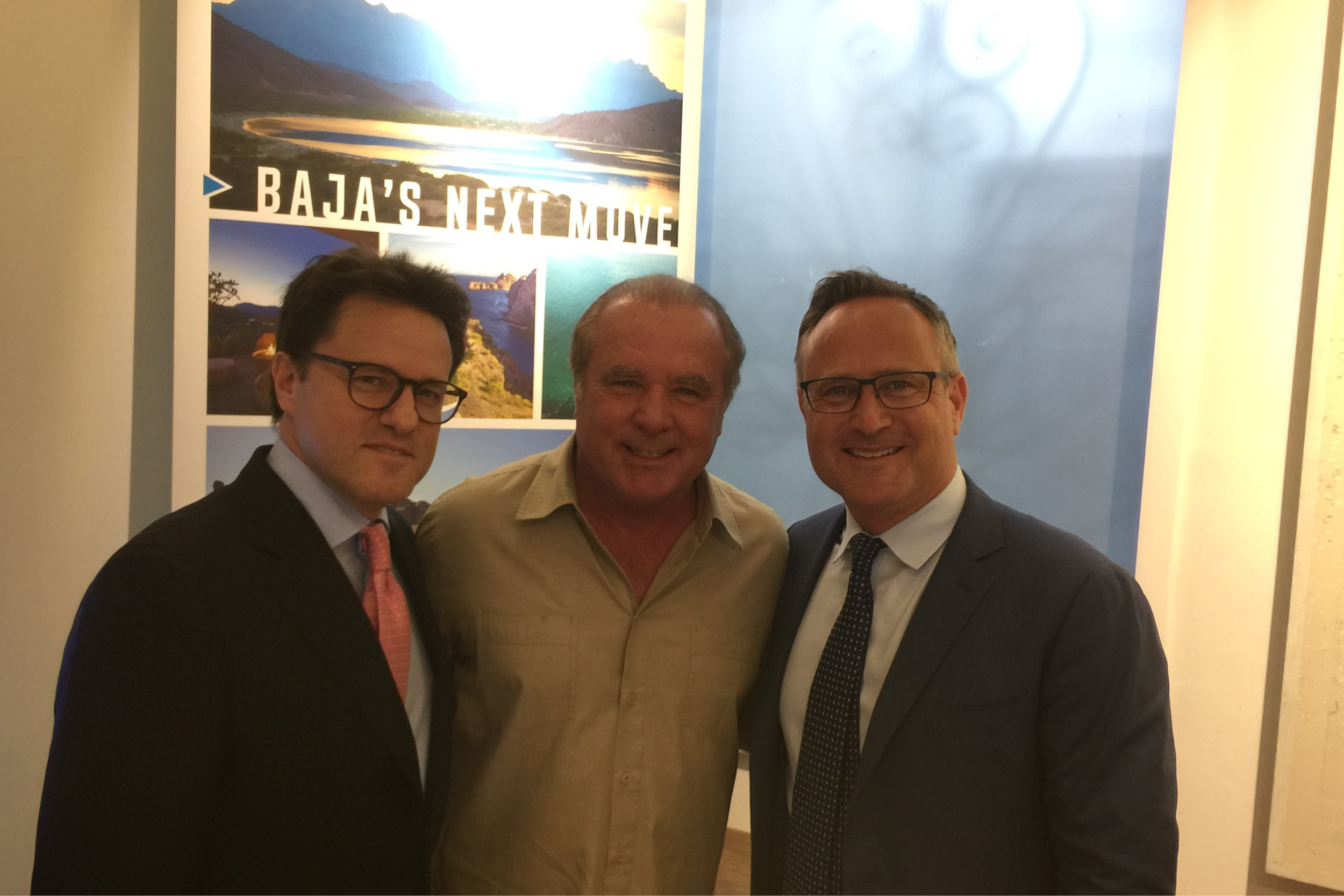 Above (from left): Carlos González, Chairman & CEO, Mexico Sotheby's International Realty; Owen Perry, Founder The Villa Group & President Danzante Bay Resort; Dean Jones Owner & CEO Realogics Sotheby's International Realty.