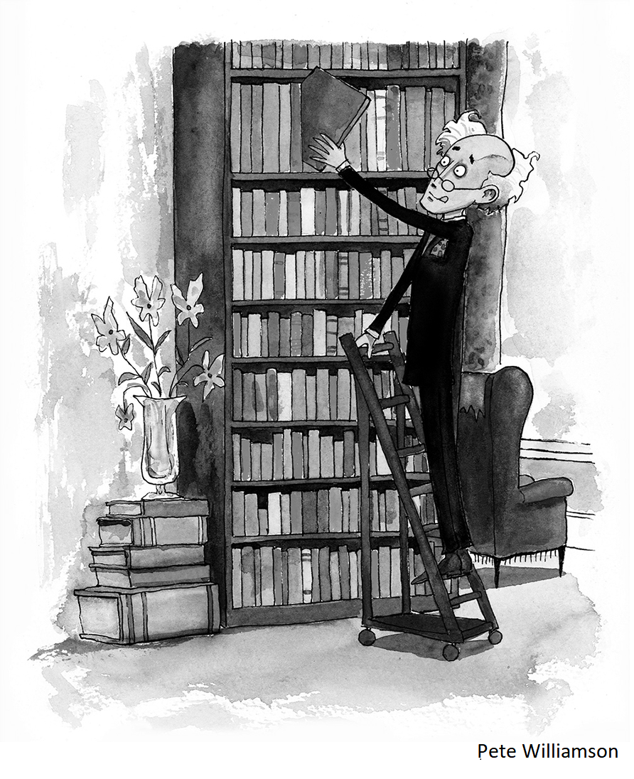 pete bookshelves transparent with caption 18 point.png