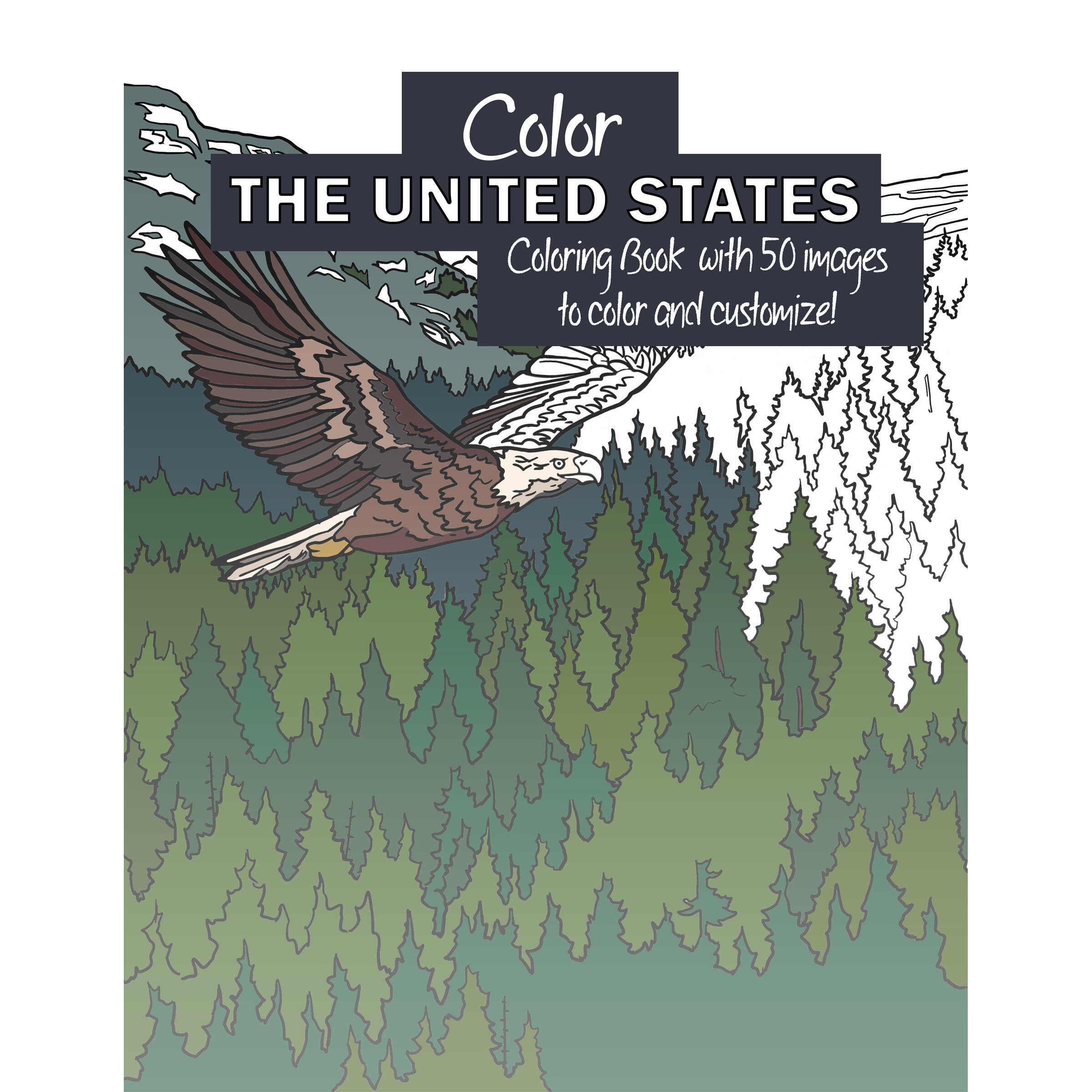 Color The United States Coloring Book (digital Version) — CORVIDAE Drawings  & Designs