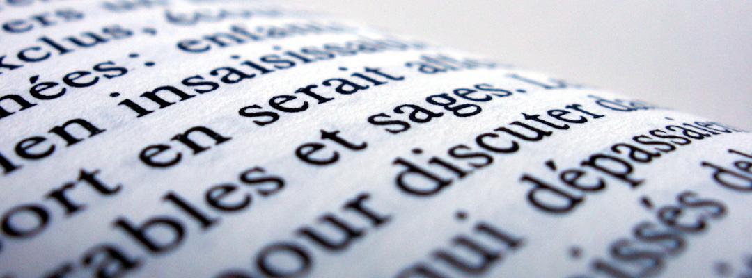 Service de rédaction française et anglaise