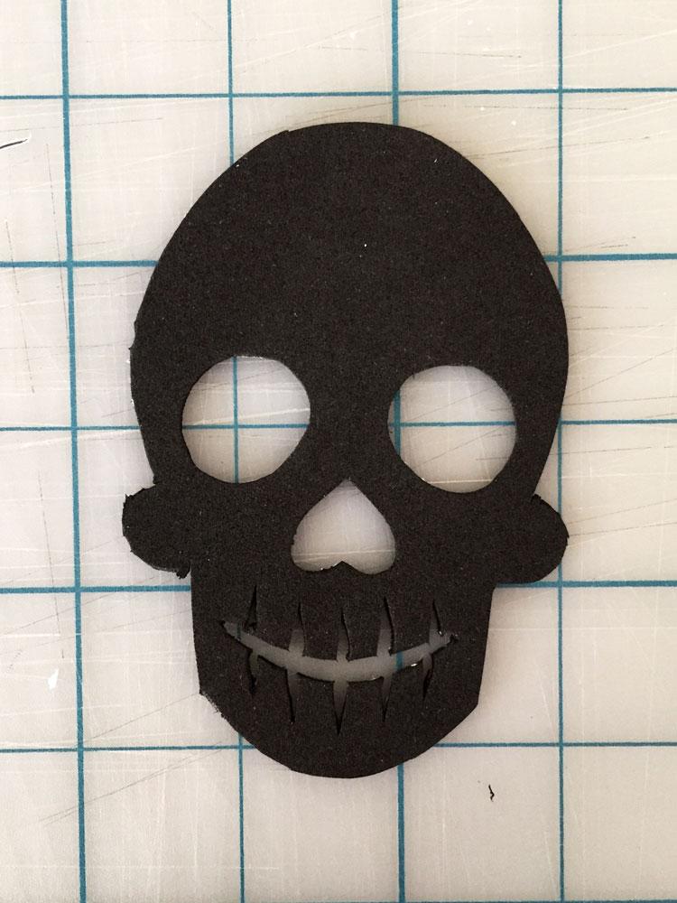 Remove skull template.