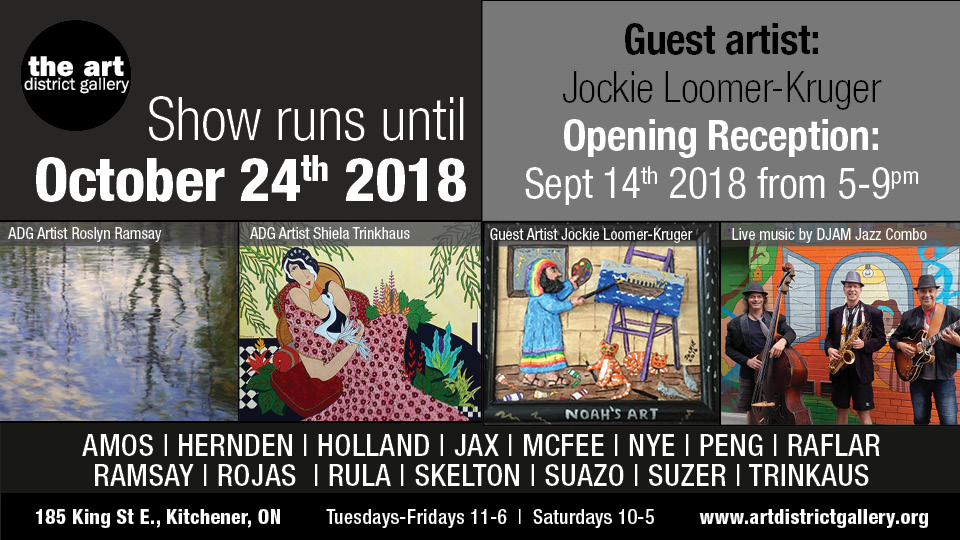Art District Gallery - Opening Reception: September 14, 2018 5-9 pmShow runs until October 24, 2018