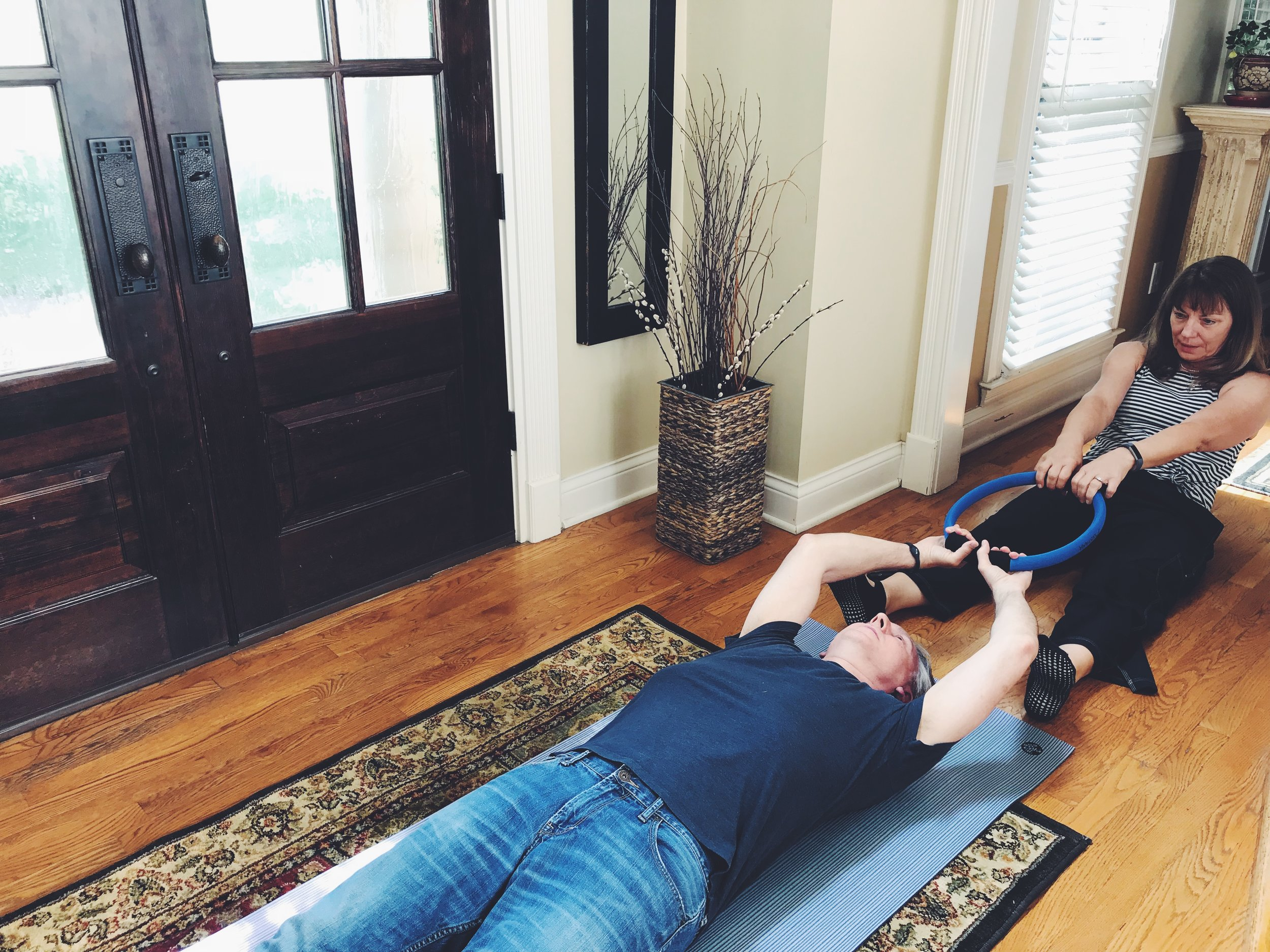 this partner assisted stretch is a great spine elongator.