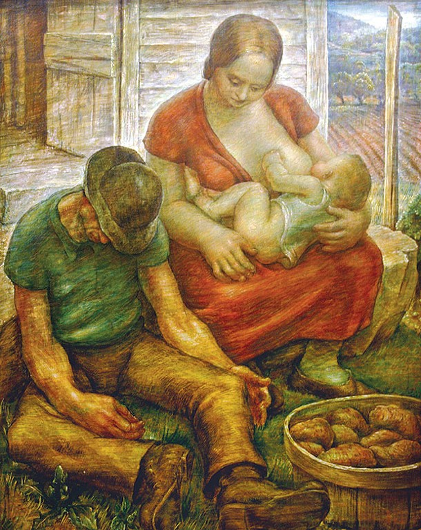 Samuel Rosenberg, Rest, 1941, Gift of Art (Collection of Pittsburgh Public Schools)