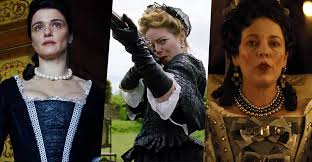 "Rachel Weisz, Emma Stone, Olivia Colman in ""The Favourite"" a film by Yorgos Lanthimos"