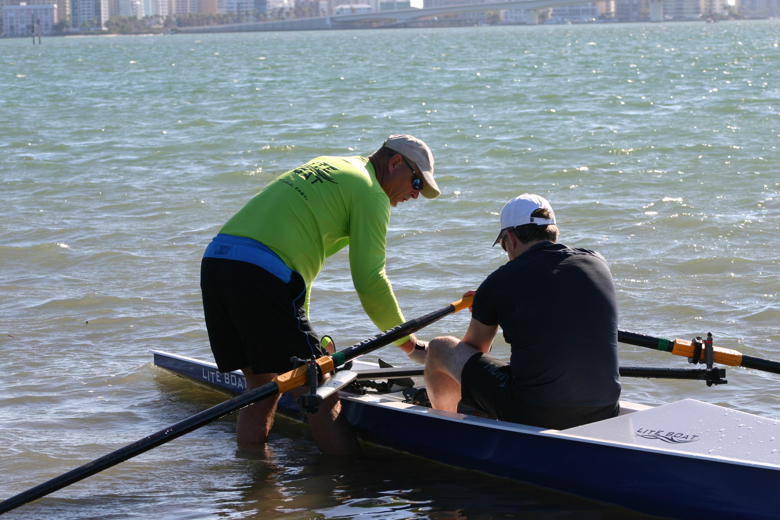 - We had a customer request a demonstration row on February 19, 2018. We met at Ken Thompson Park in Sarasota and he tried a LiteSport 1X and a LiteRace 1X. It was an absolutely beautiful day and he loved the boats!