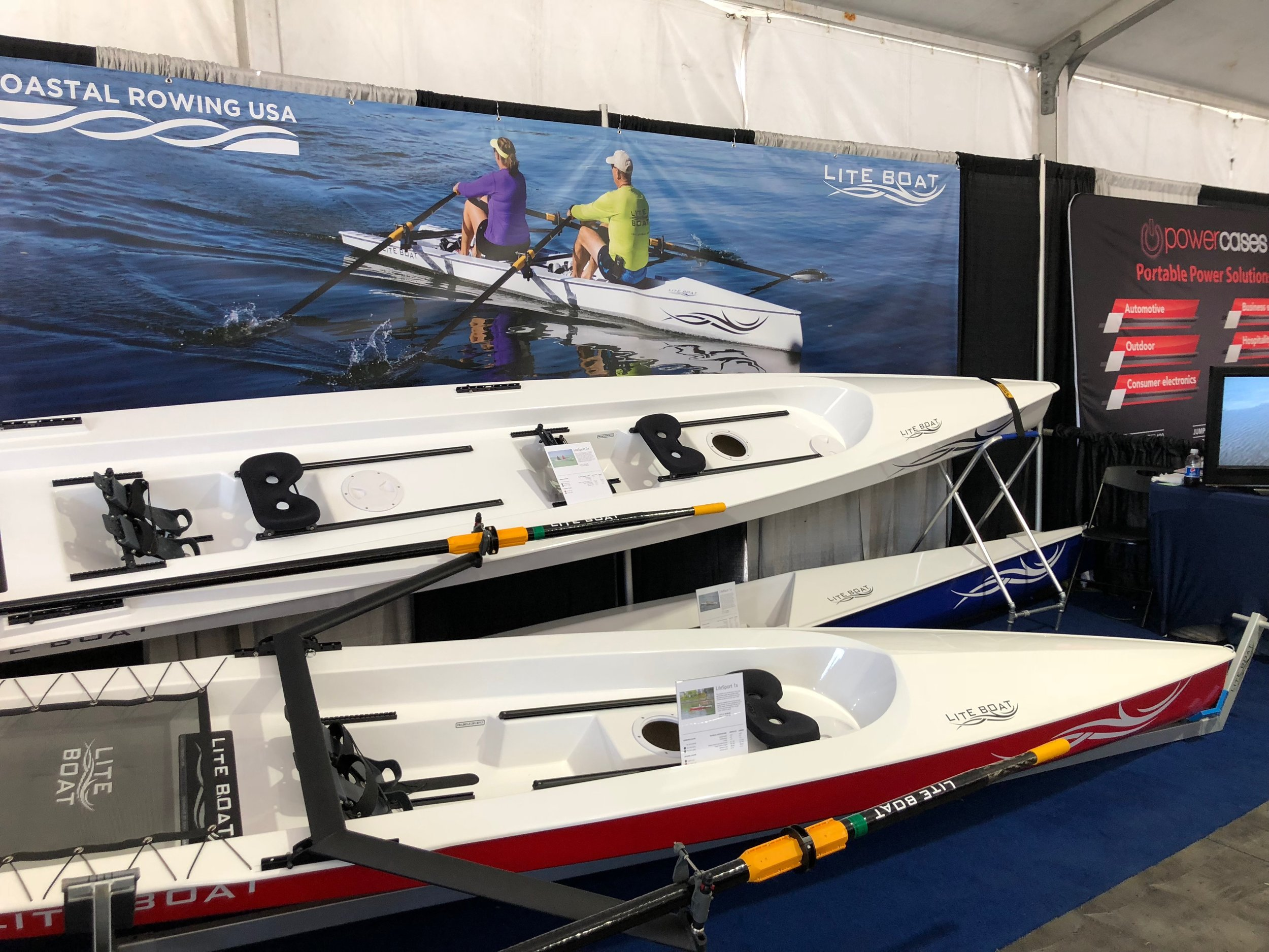 - We had a great time at the Suncoast Boat Show at Marina Jacks April 20-22. It was a fantastic chance to see these great boats in person. We met many wonderful people who were very interested in the LiteBoats. We look forward to seeing them for a demo row, and out on the waters of Sarasota enjoying their new boats very soon!