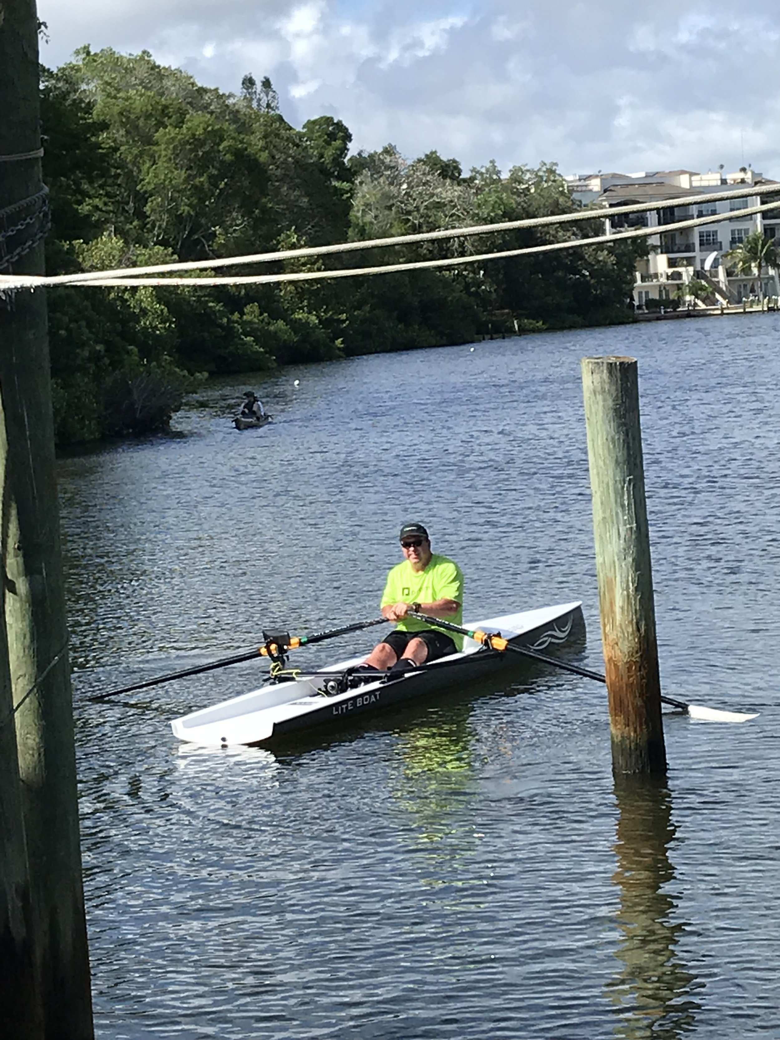 - We had a dedicated rower fly in from Oklahoma City to demo row the LiteBoats. Not only did he travel a great distance, he rowed as a tropical depression was passing by. He said it was perfect as it's always windy where he rows!
