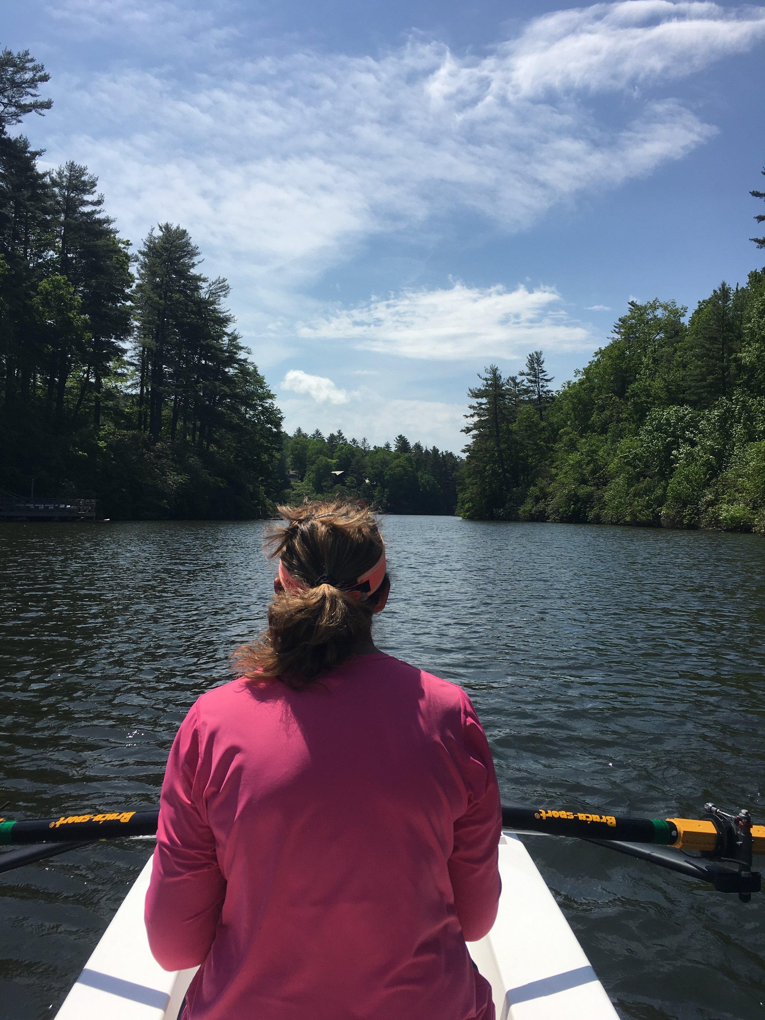 - Beautiful rowing on Lake Sequoyah in N.C.