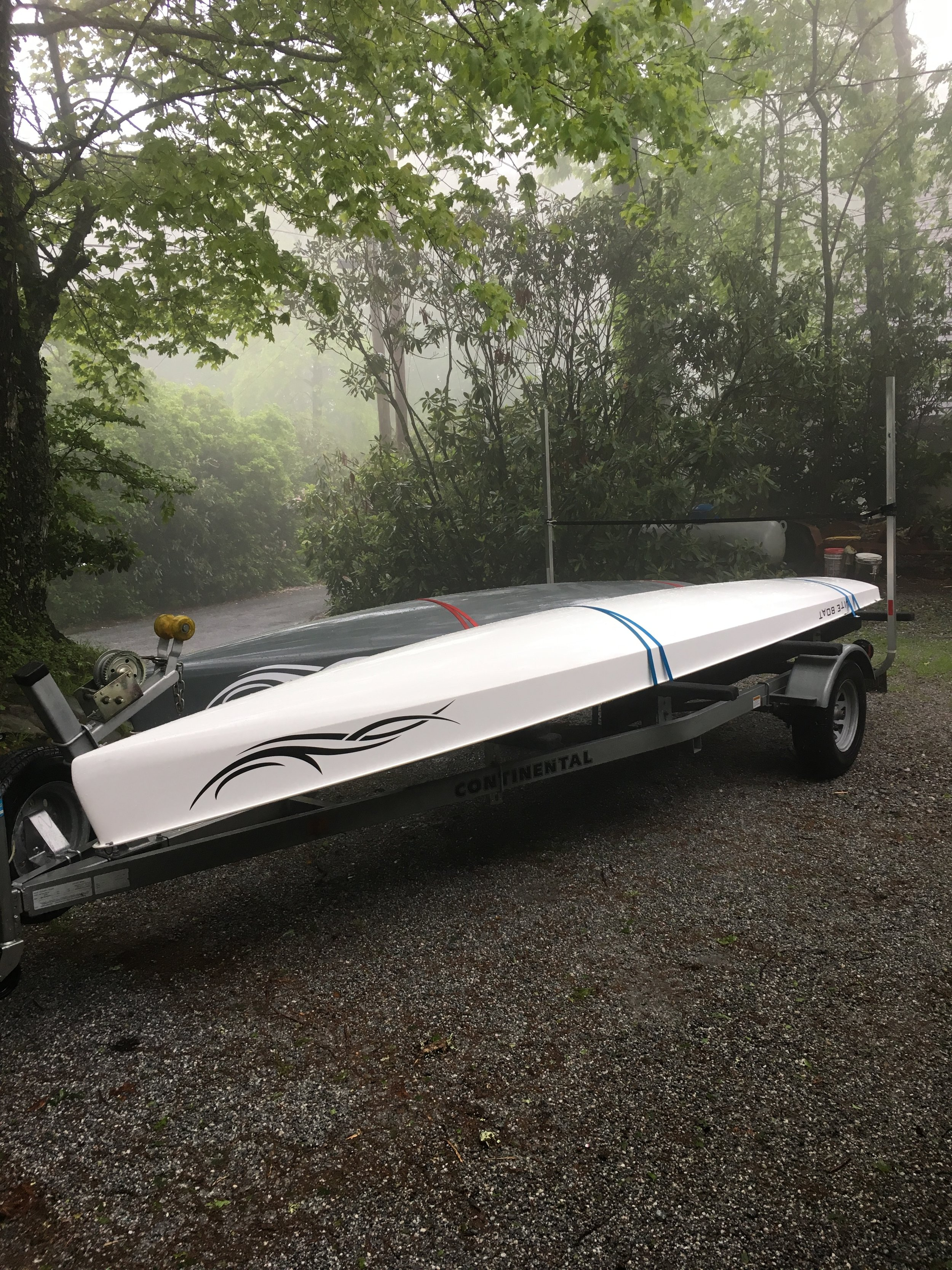 - Have trailer, will travel. We headed up to the N.C. Mountains to row on some beautiful mountain lakes. LiteBoats love travel and adventure!!