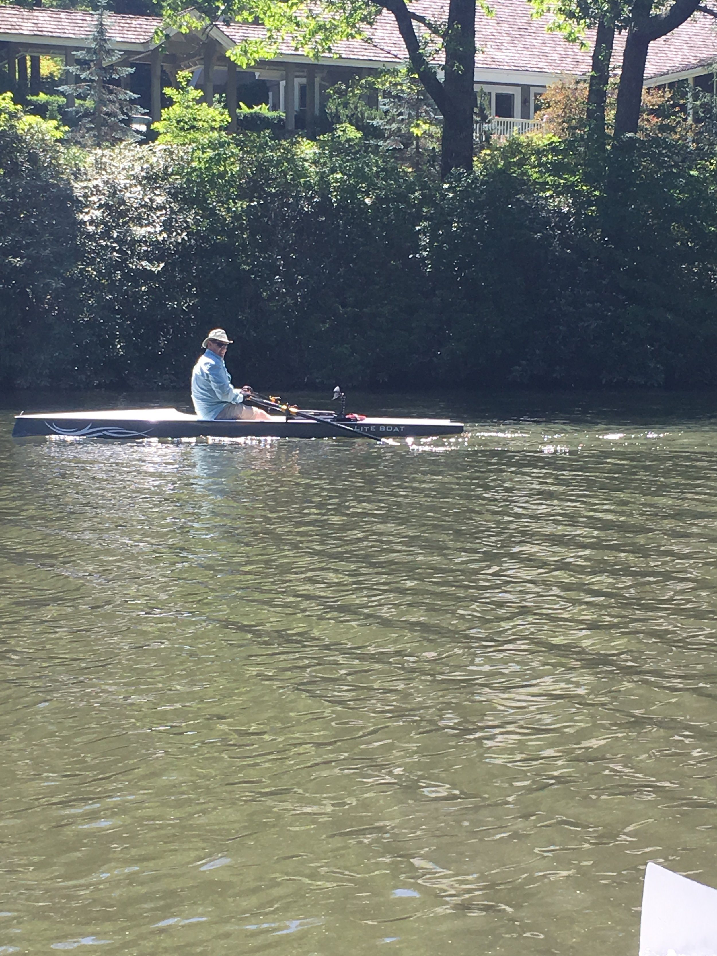 - The second time we rowed on Lake Sequoyah a gentleman joined us to try out rowing a LiteBoat. It was a spectacular day and he really enjoyed it!!