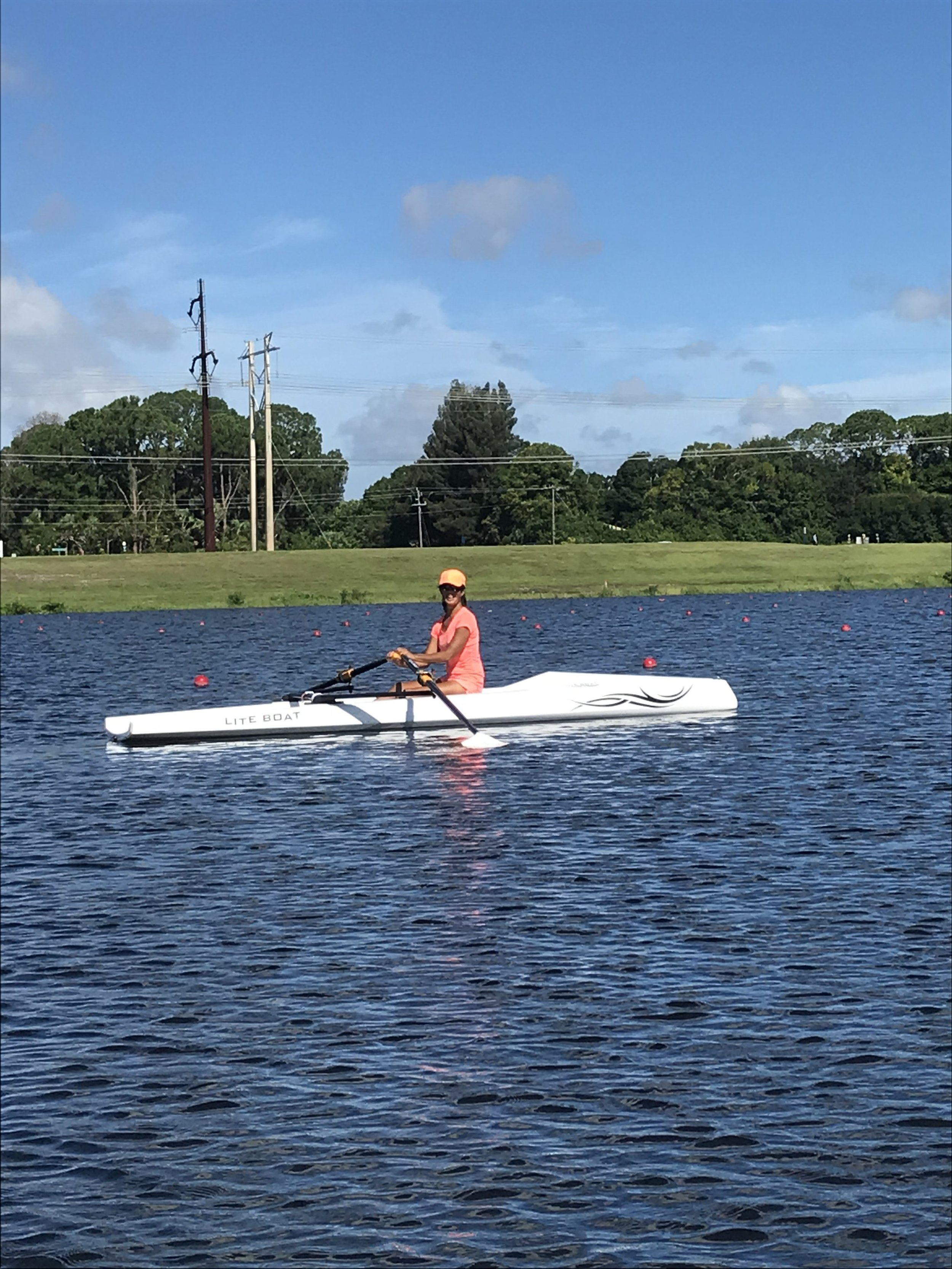Welcome - Another new member of our LiteBoat family taking delivery of her LiteSport+. We are looking forward to many rows together.