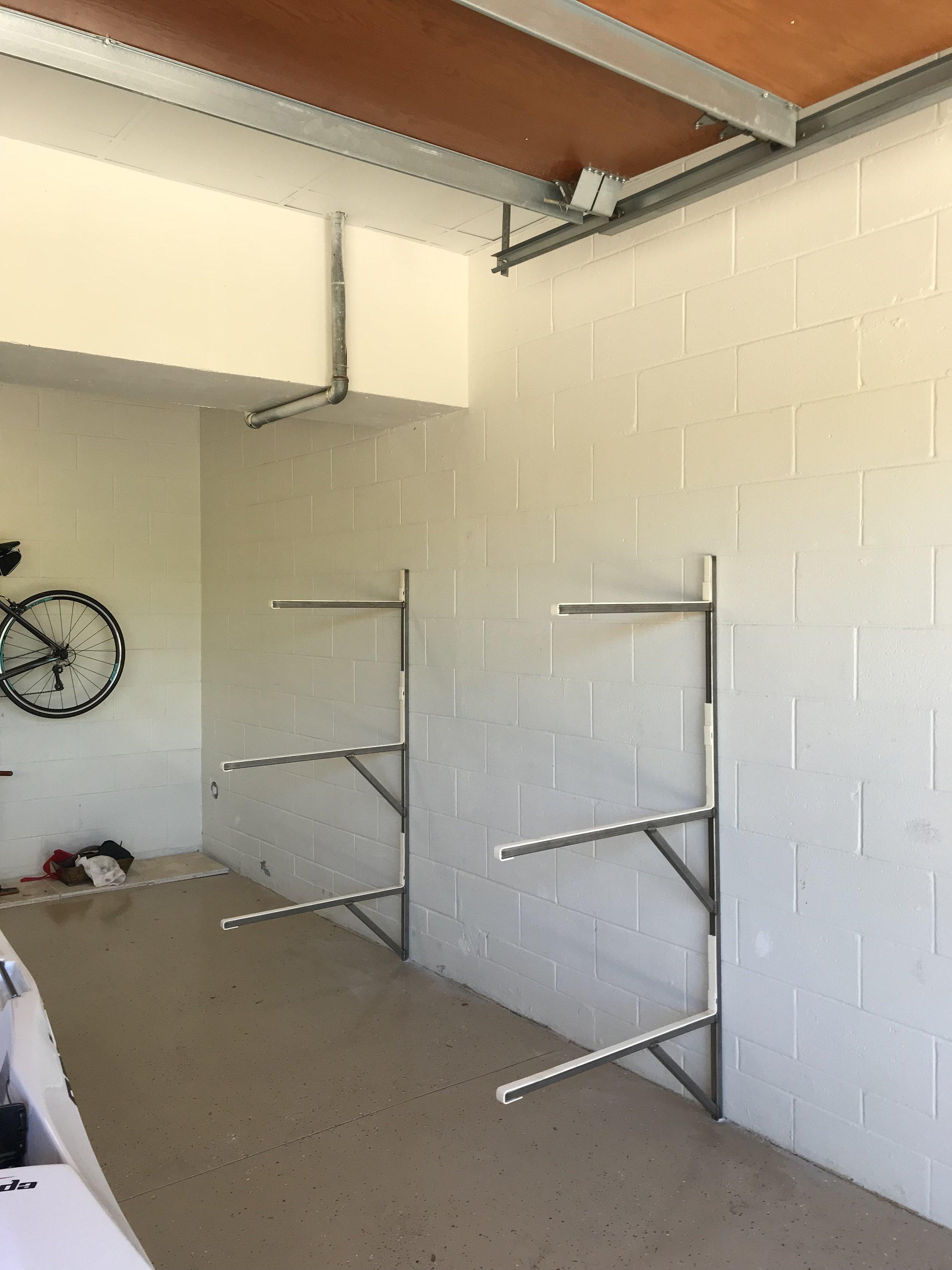 Racks - We custom built some racks to help our new customer store her new LiteSport+.