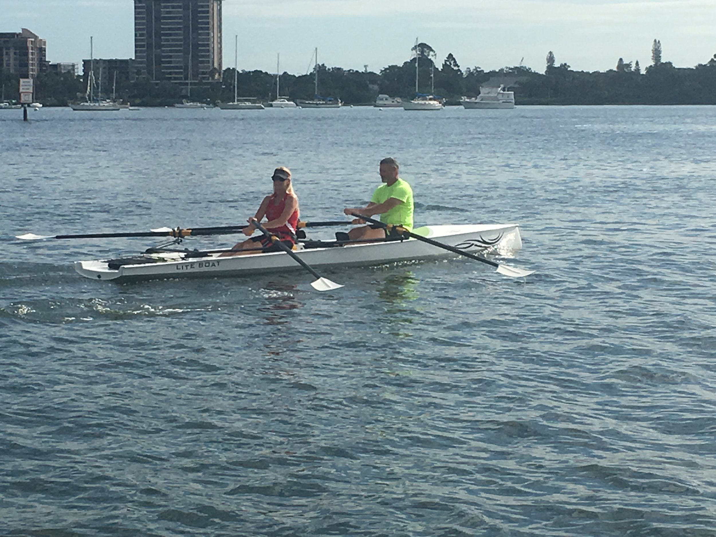 Demo Rows - Members of Lake County Rowing Association looking good while giving our LiteSport 2X a try.