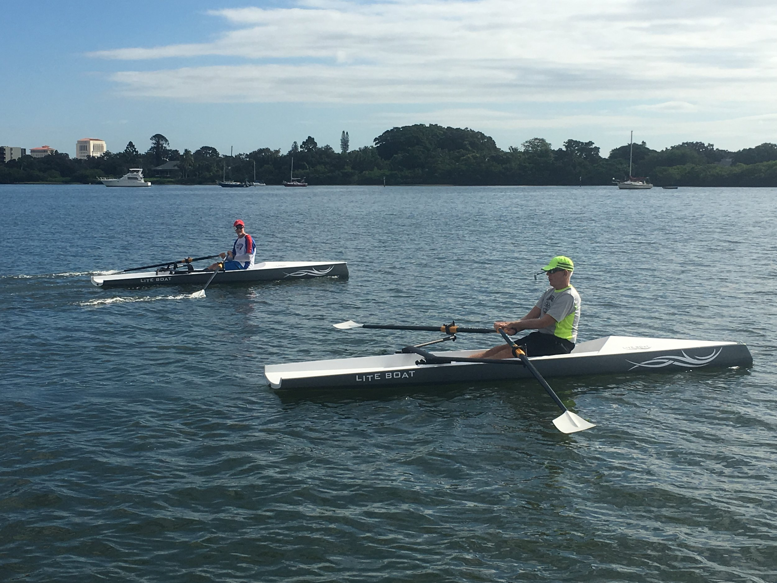 Demo Rows - Members of Lake County Rowing Association showing us how it's done in our LiteSport+ and LiteSport 1X.
