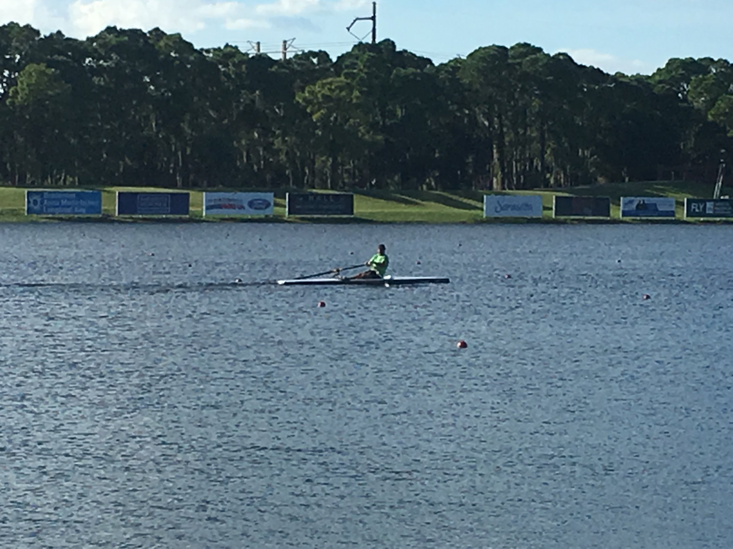 LiteRiver on the course - And here he is heading for the finish in style!!