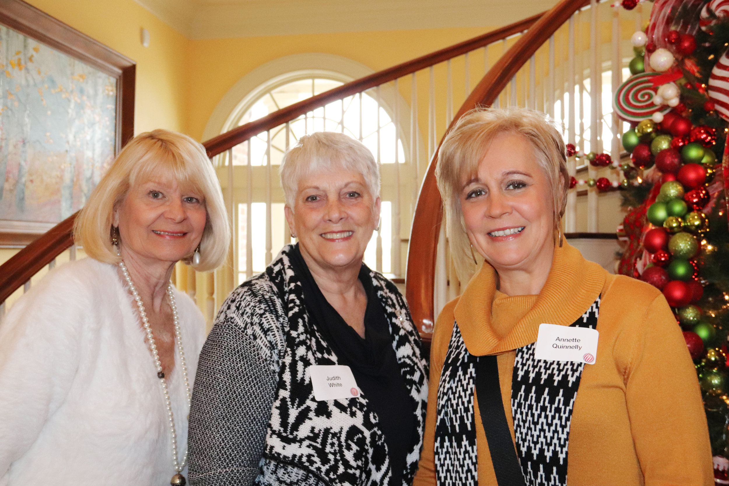 Diana Davis, Judith White and Annette Quinnelly